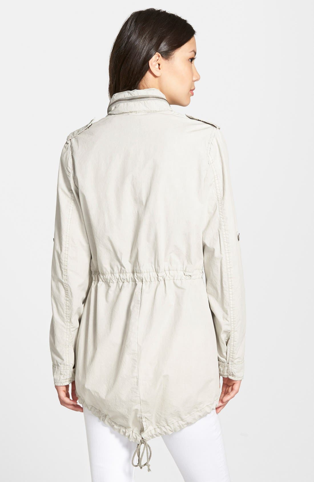 Lightweight Cotton Hooded Utility Jacket,                             Alternate thumbnail 8, color,