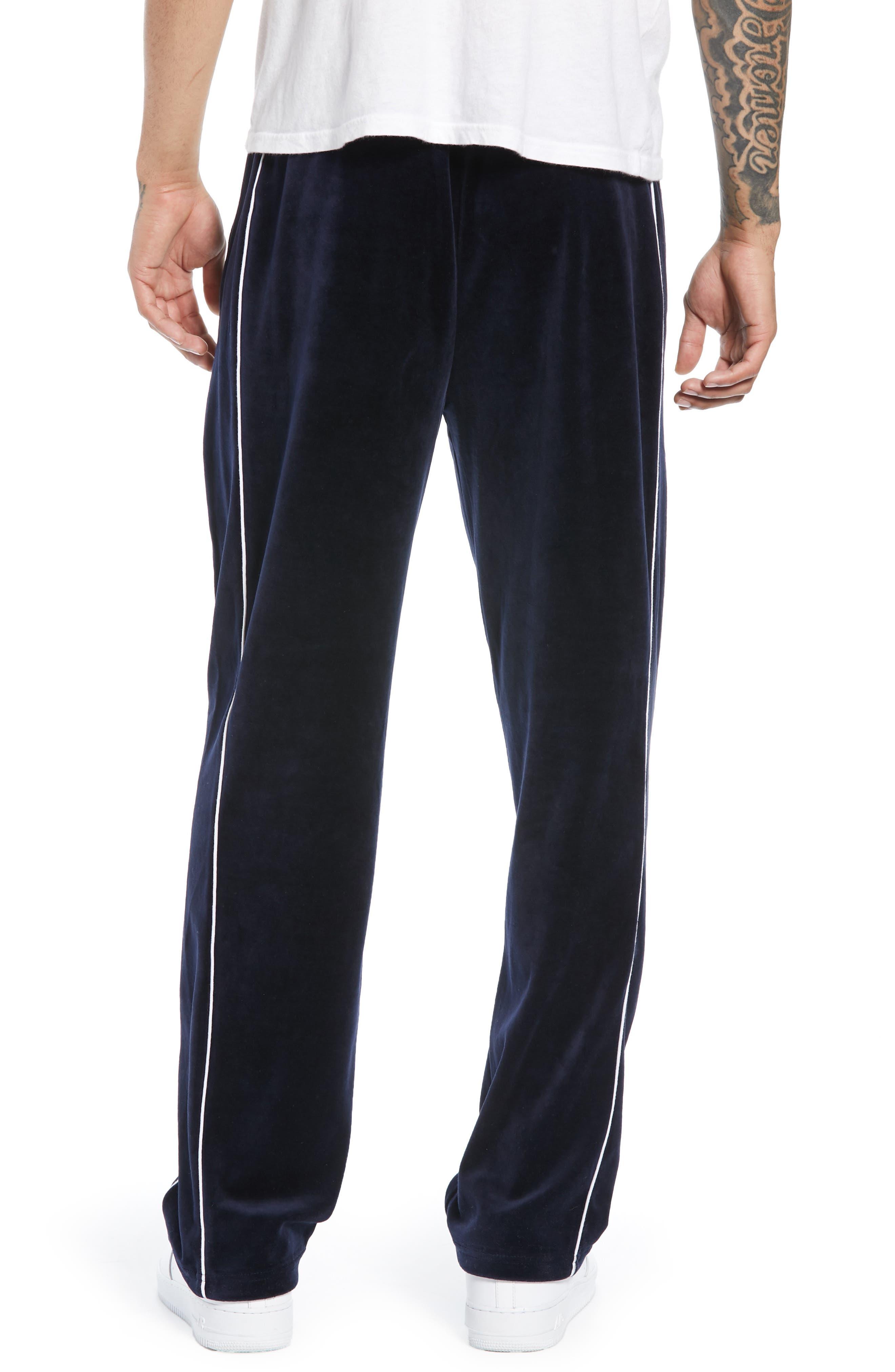 Velour Pants,                             Alternate thumbnail 2, color,                             NAVY BLUE