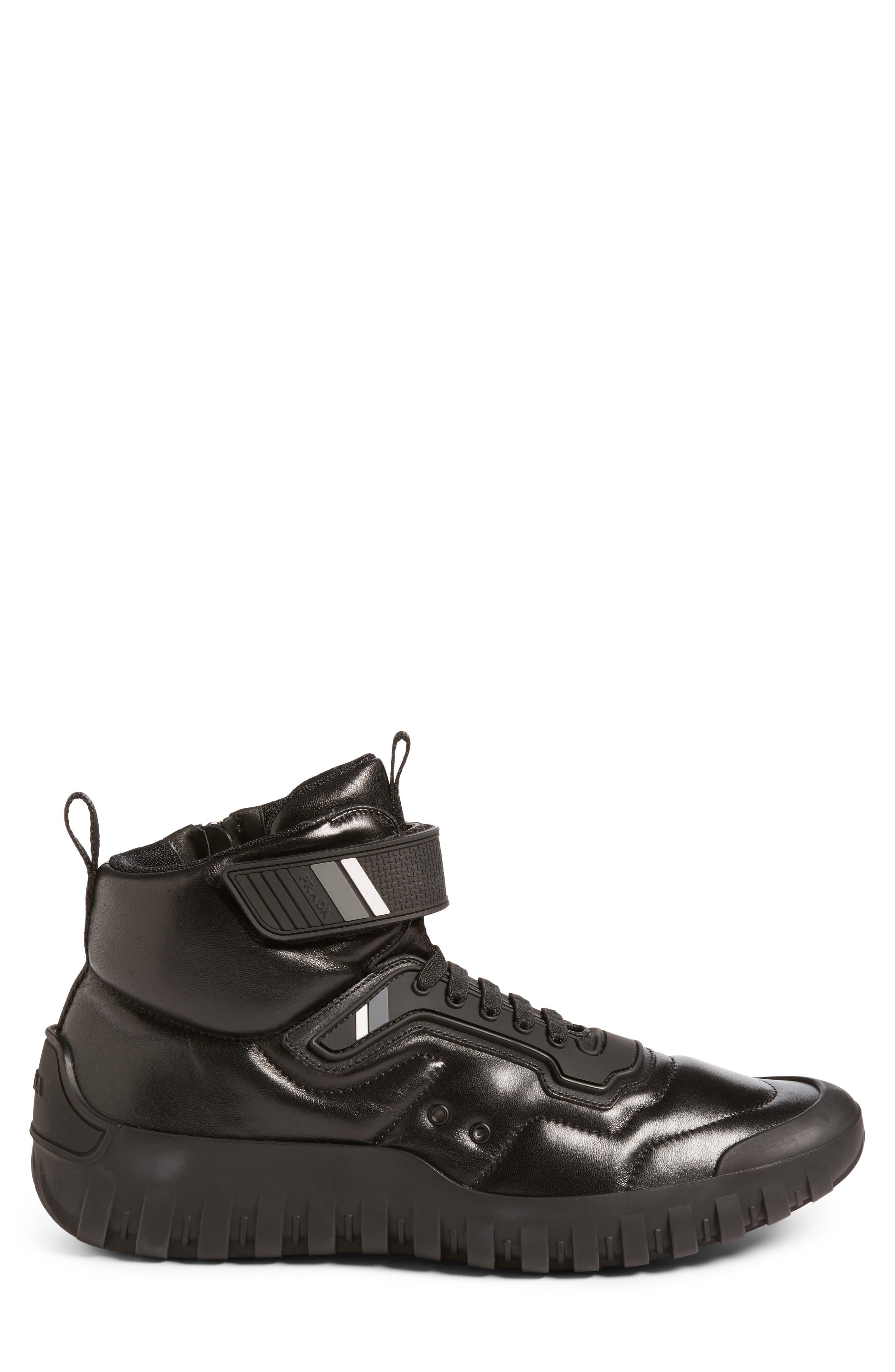 Tech Strap Sneaker,                             Alternate thumbnail 3, color,                             001