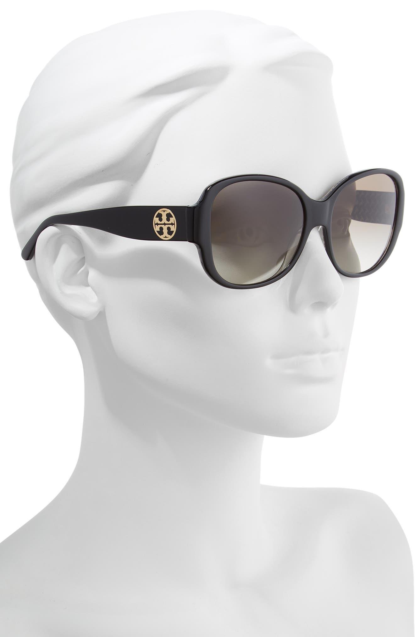 56mm Gradient Retro Sunglasses,                             Alternate thumbnail 2, color,                             009