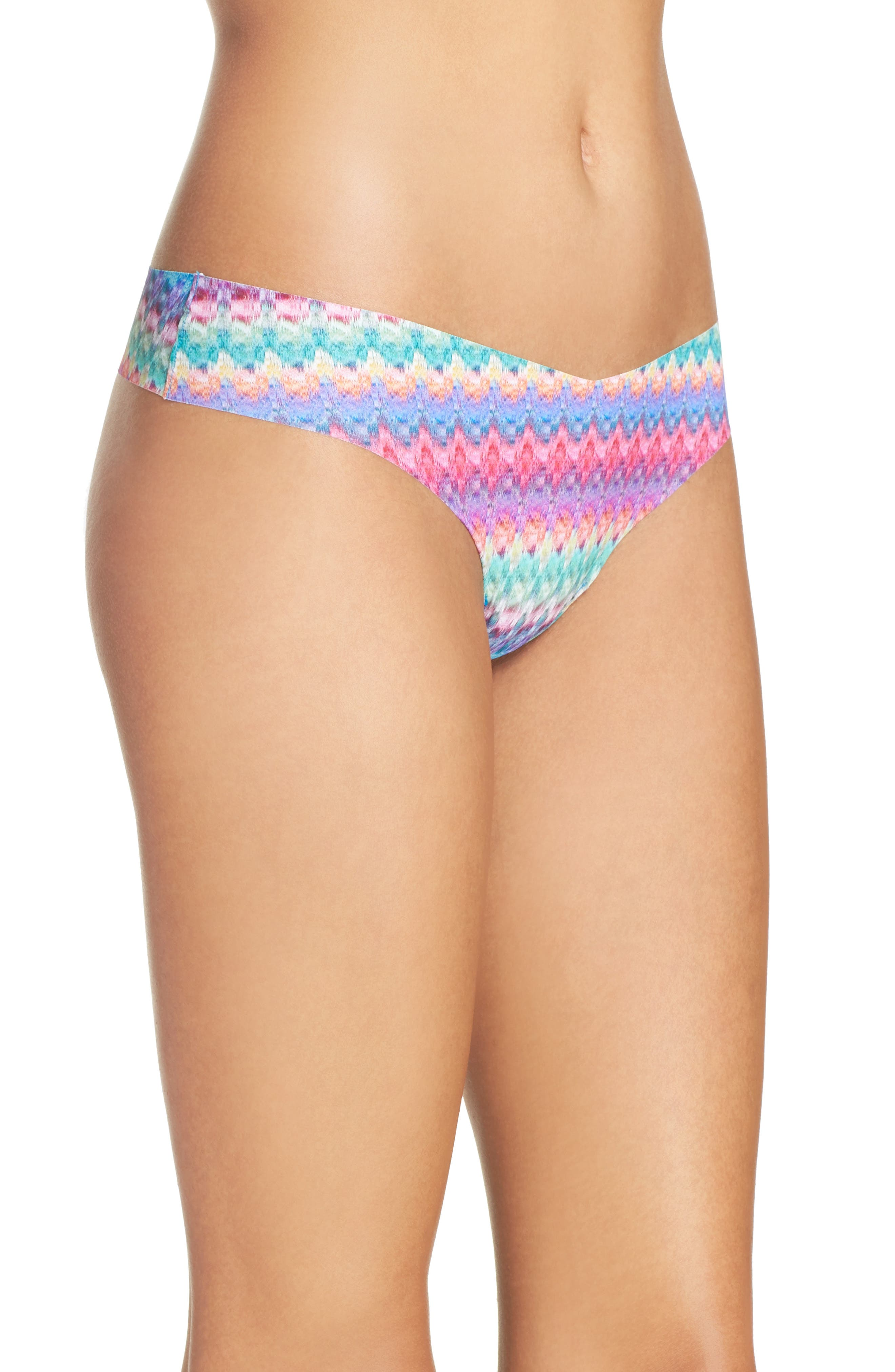 Print Microfiber Thong,                             Alternate thumbnail 316, color,