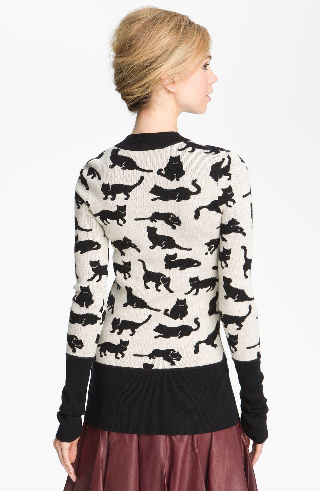 Cat Sweater,                             Alternate thumbnail 2, color,                             100