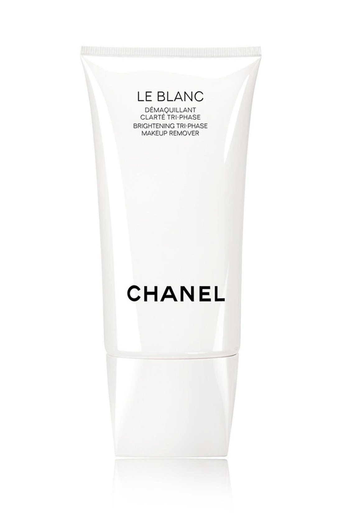 CHANEL,                             LE BLANC<br />Brightening Tri-Phase Makeup Remover,                             Main thumbnail 1, color,                             NO COLOR