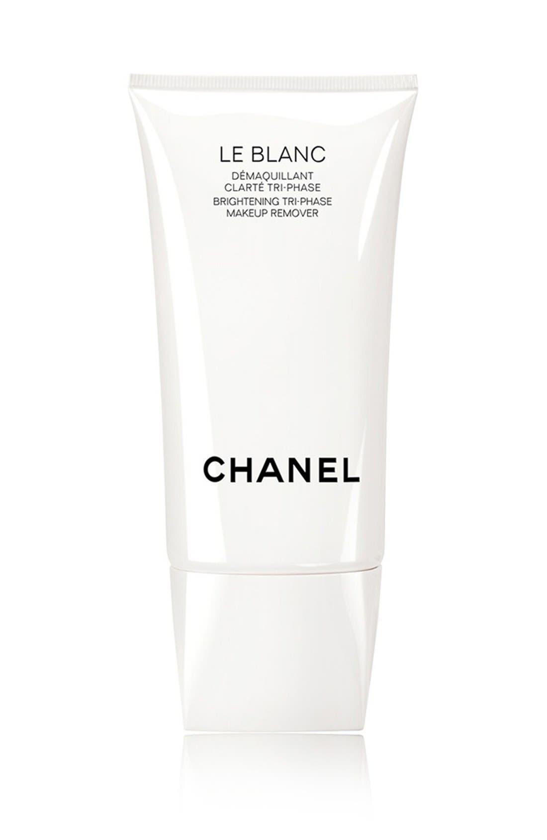 CHANEL LE BLANC<br />Brightening Tri-Phase Makeup Remover, Main, color, NO COLOR