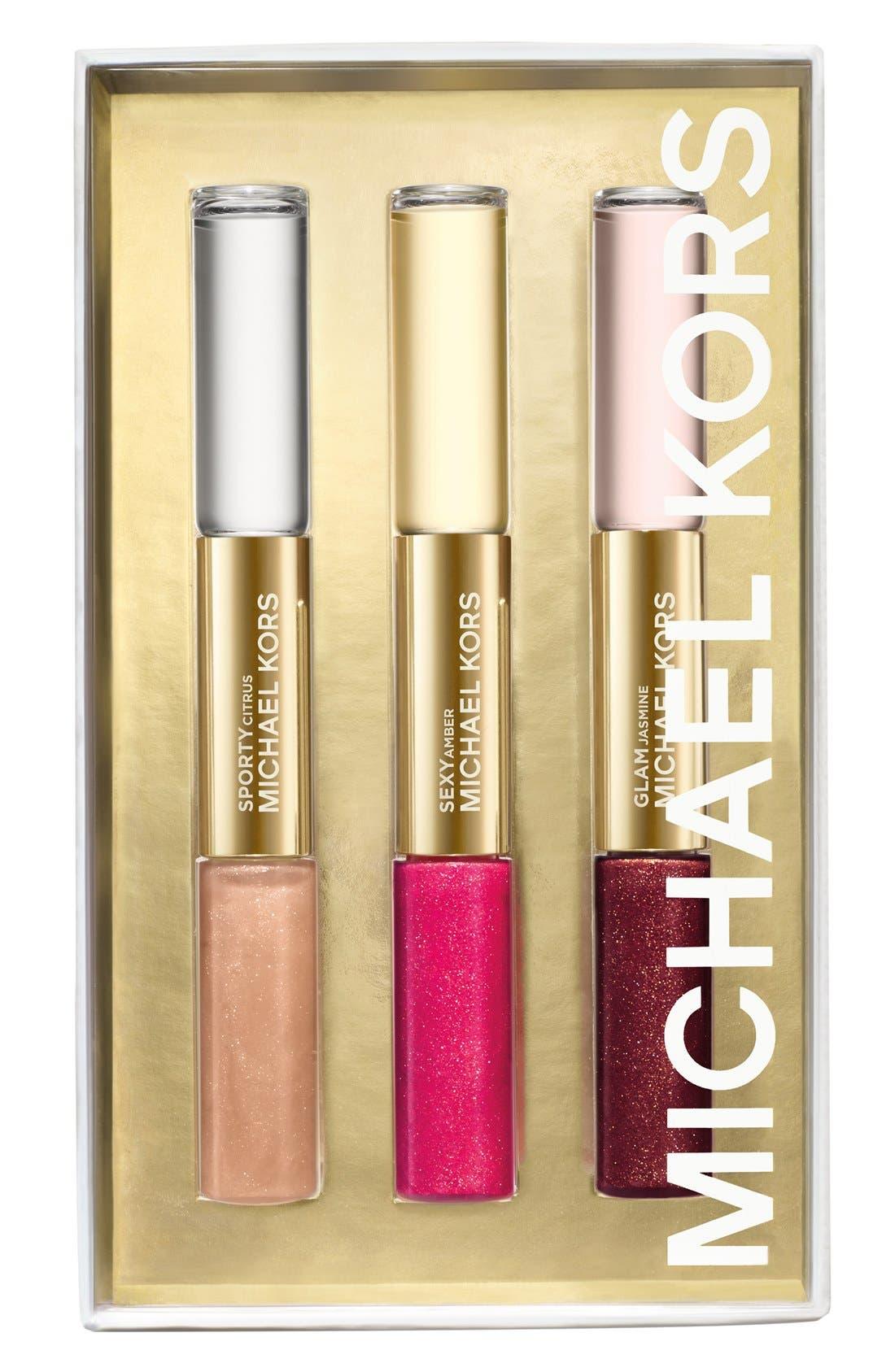 Dual-Ended Eau de Parfum Rollerball & Lip Luster Set,                             Main thumbnail 1, color,                             000