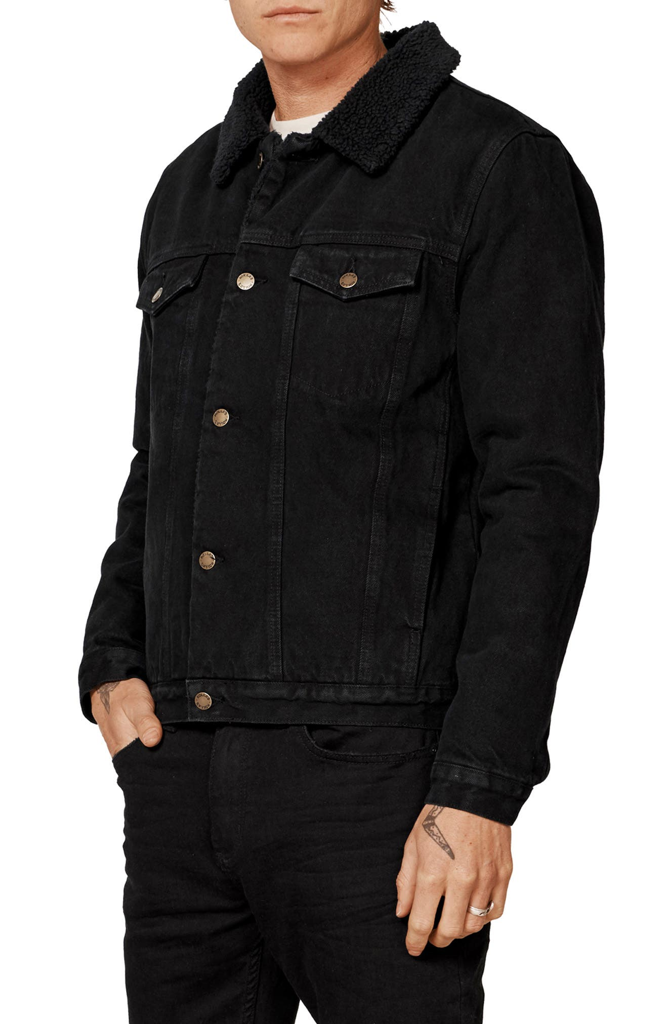 ROLLA'S,                             Lined Denim Jacket,                             Alternate thumbnail 3, color,                             002