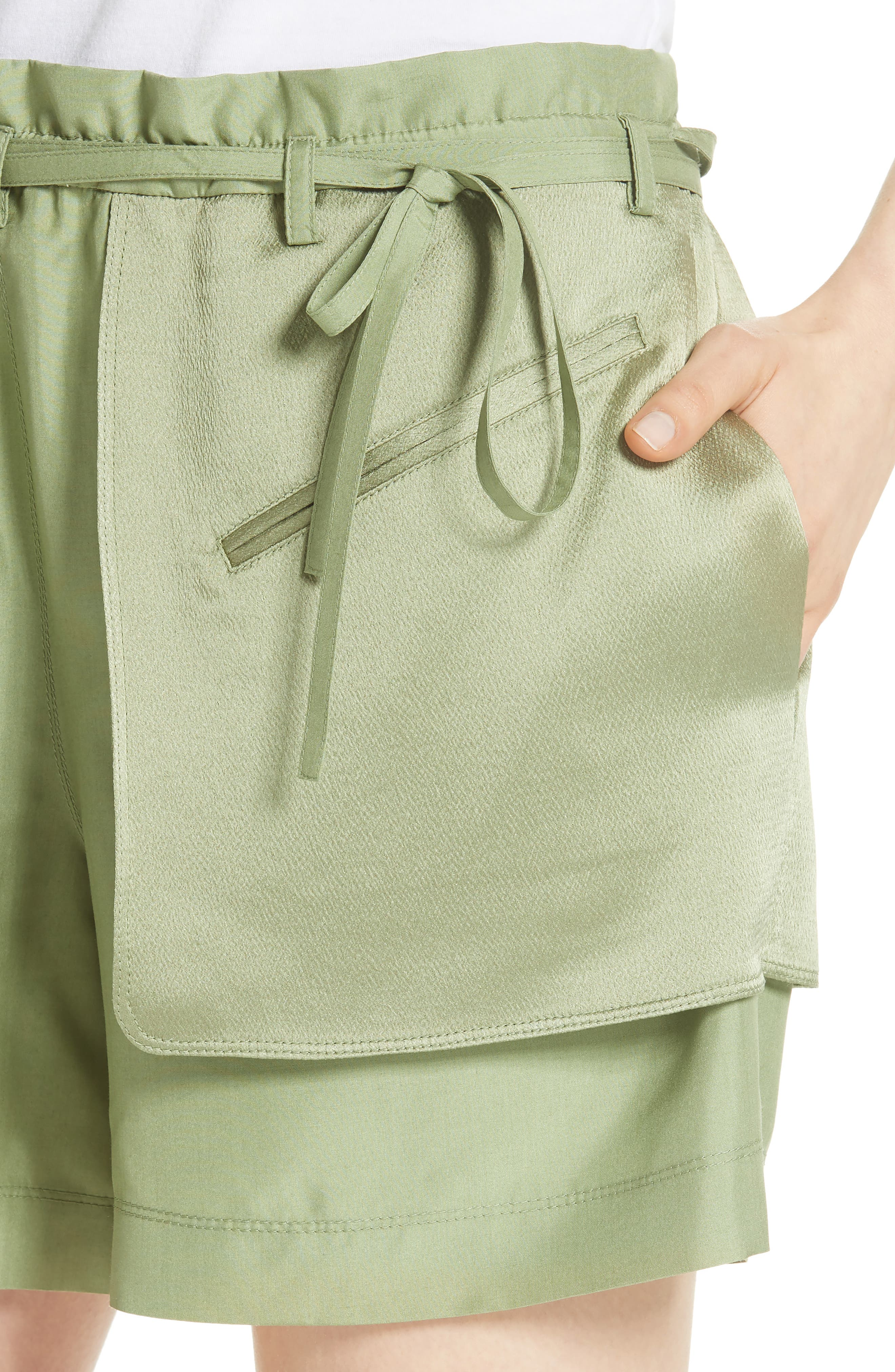 Satin Pocket Shorts,                             Alternate thumbnail 4, color,                             300