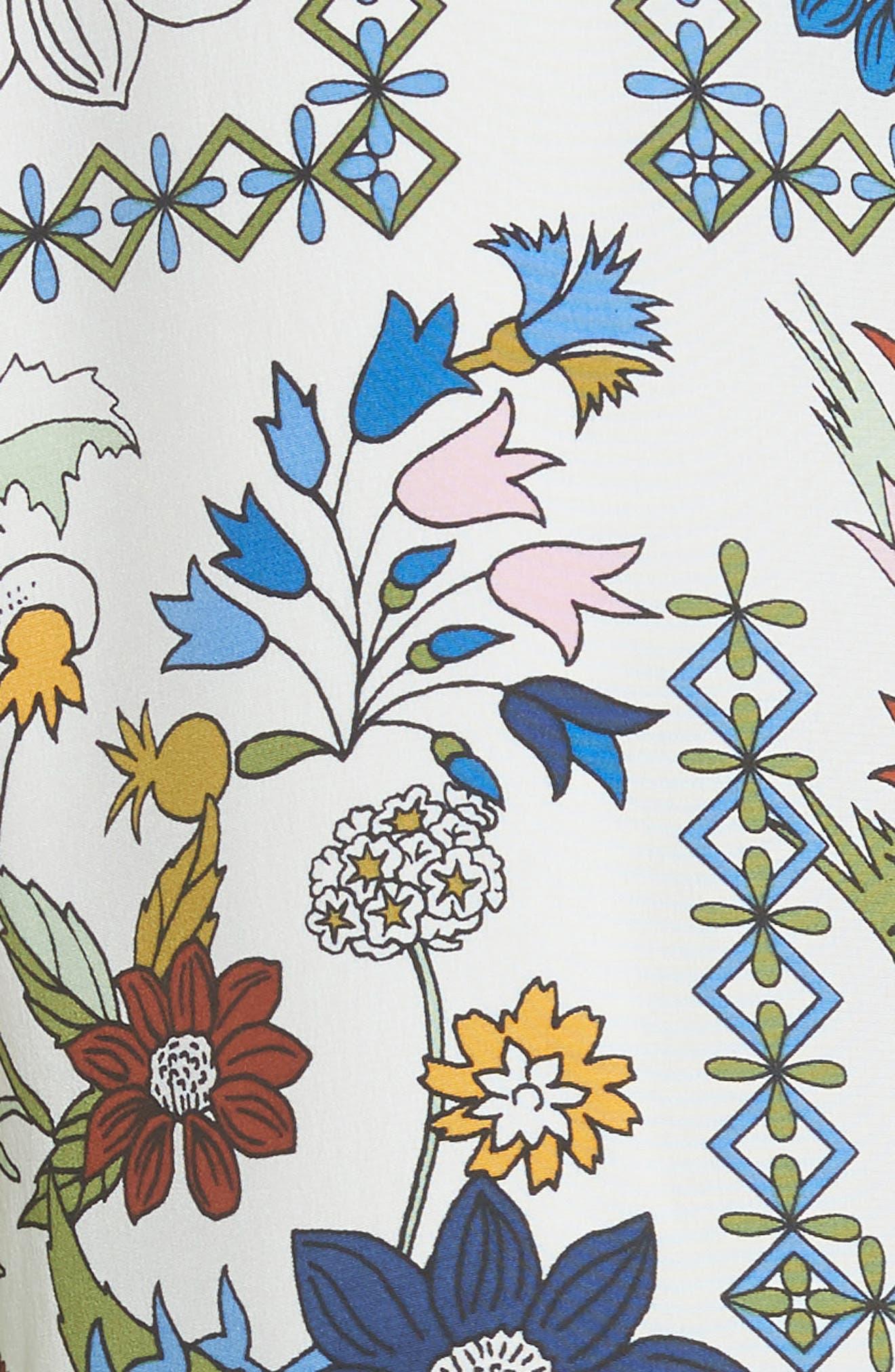 Daphne Silk Shift Dress,                             Alternate thumbnail 5, color,
