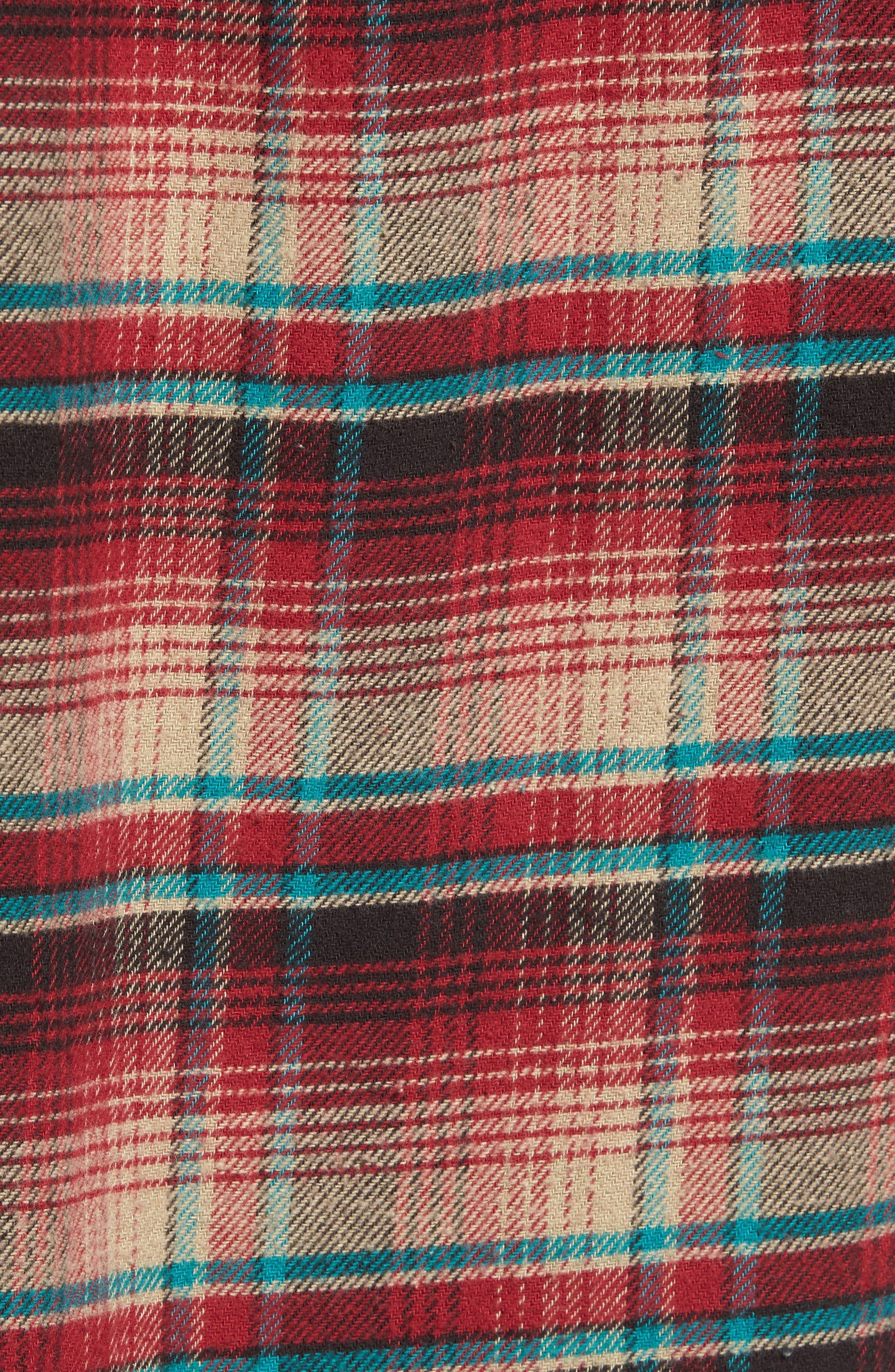 Butler Plaid Flannel Sport Shirt,                             Alternate thumbnail 15, color,