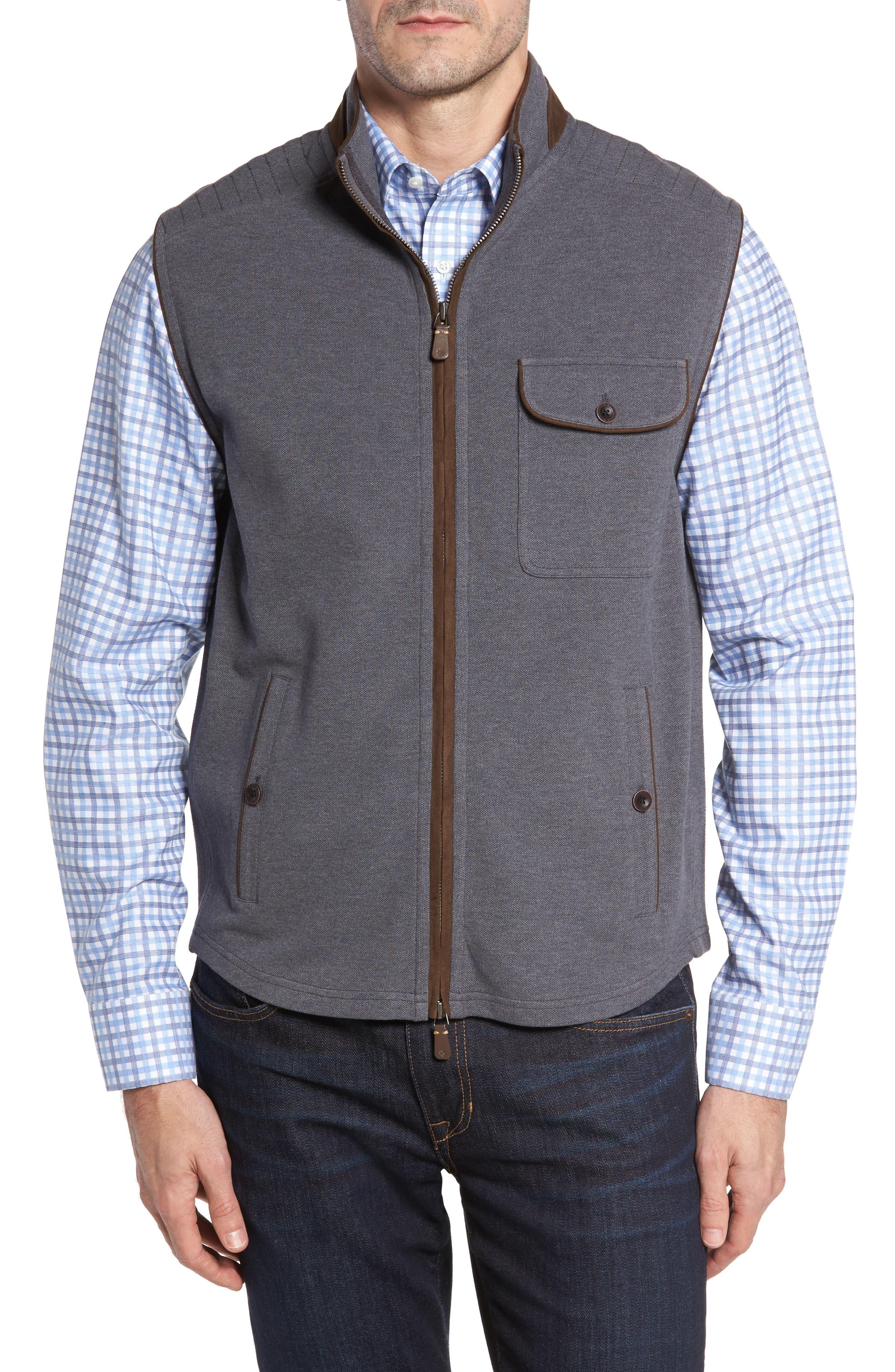 THADDEUS Robert Full Zip Vest, Main, color, 014