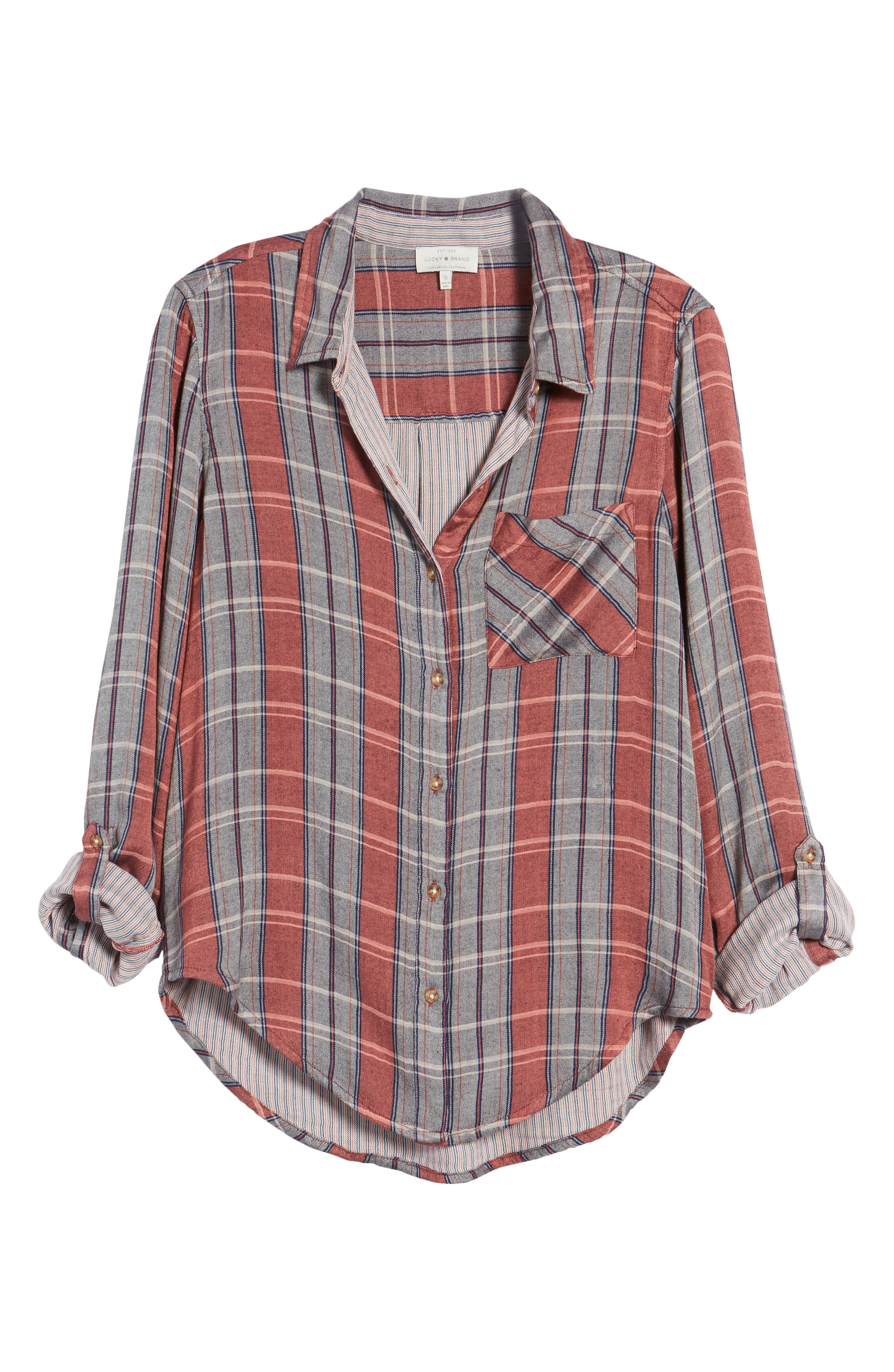 Plaid Pocket Shirt,                             Alternate thumbnail 6, color,                             065