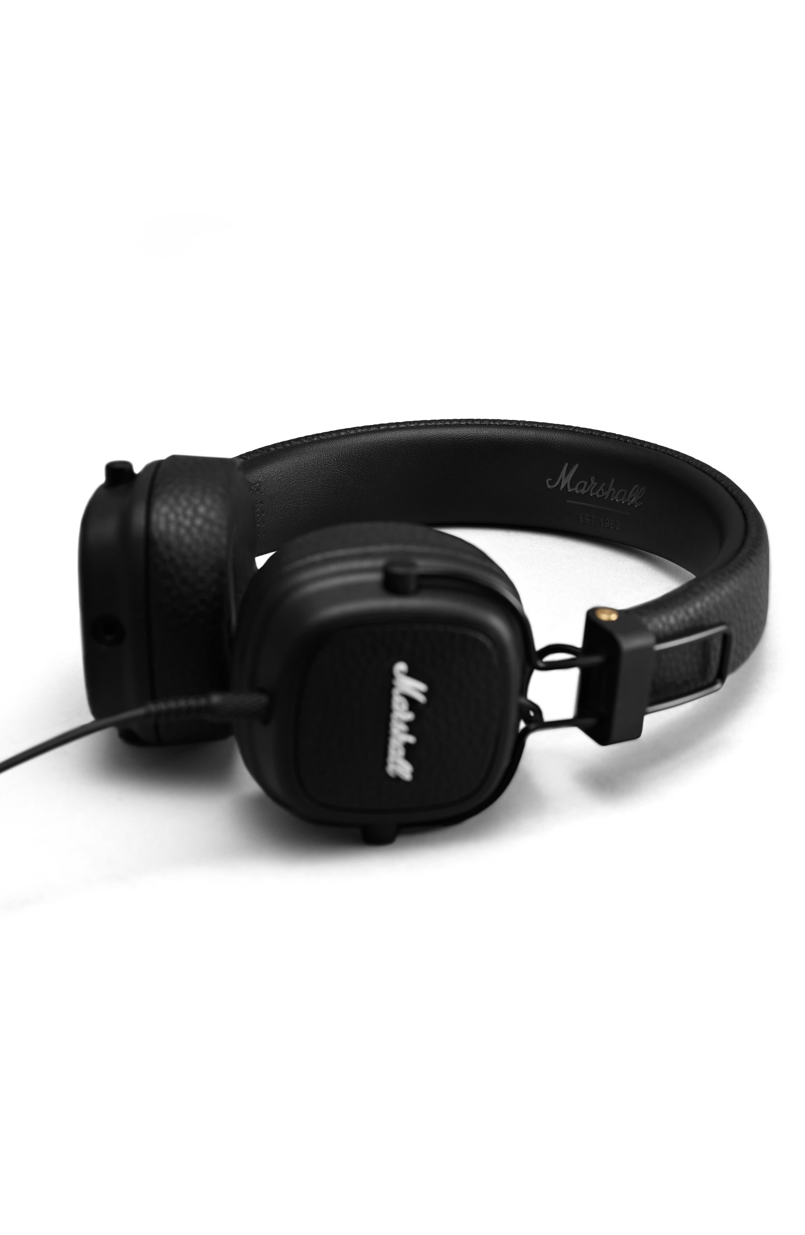 Major III Wired Headphones,                             Alternate thumbnail 4, color,                             BLACK