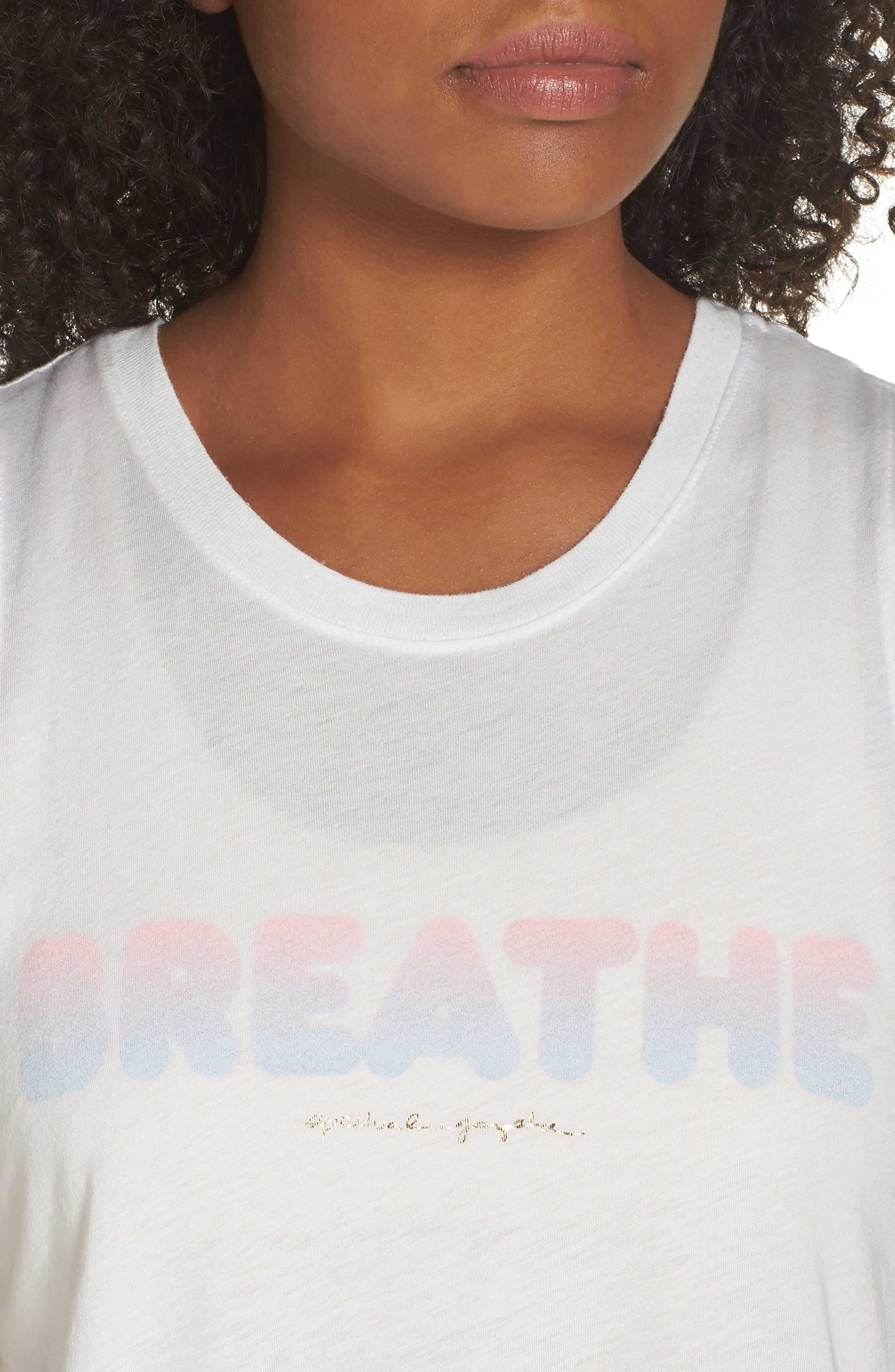 Breathe Muscle Tee,                             Alternate thumbnail 4, color,                             STARDUST