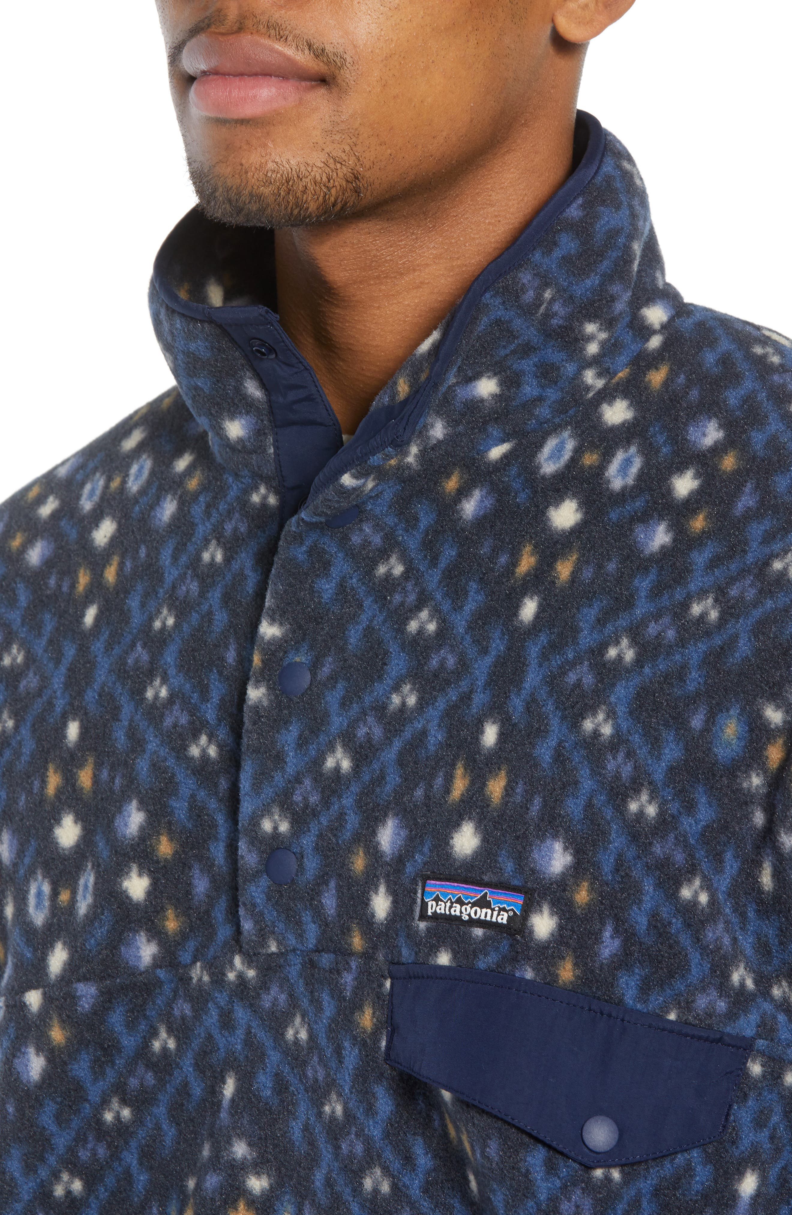 Synchilla<sup>®</sup> Snap-T<sup>®</sup> Fleece Pullover,                             Alternate thumbnail 4, color,                             HOWL/ STONE BLUE
