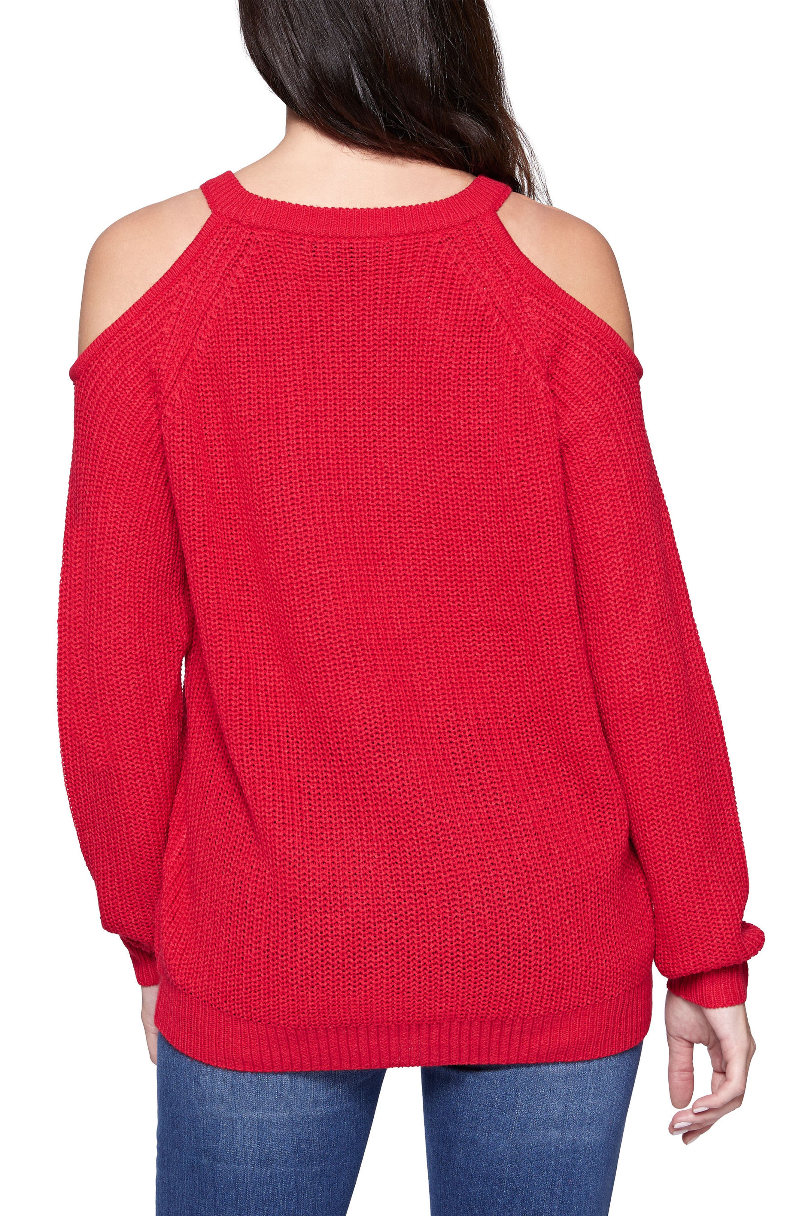 Riley Cold Shoulder Sweater,                             Alternate thumbnail 15, color,