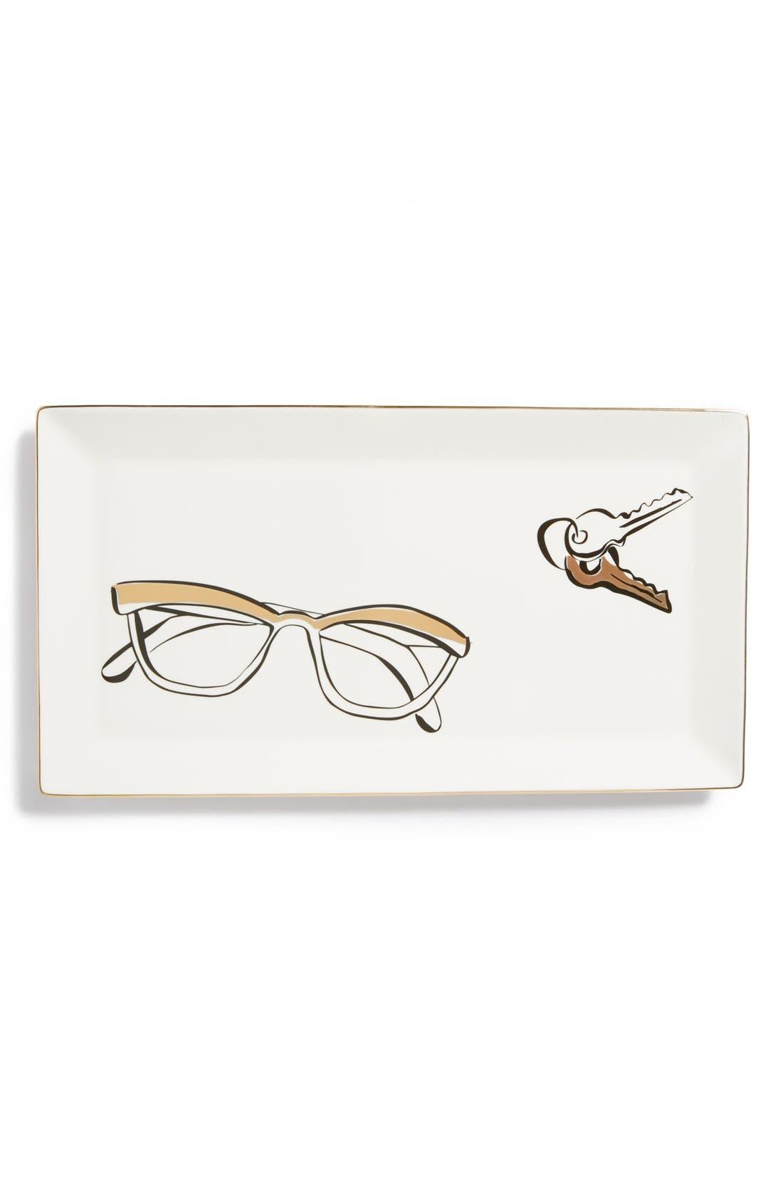 KATE SPADE NEW YORK,                             'eyeglasses' trinket tray,                             Main thumbnail 1, color,                             100