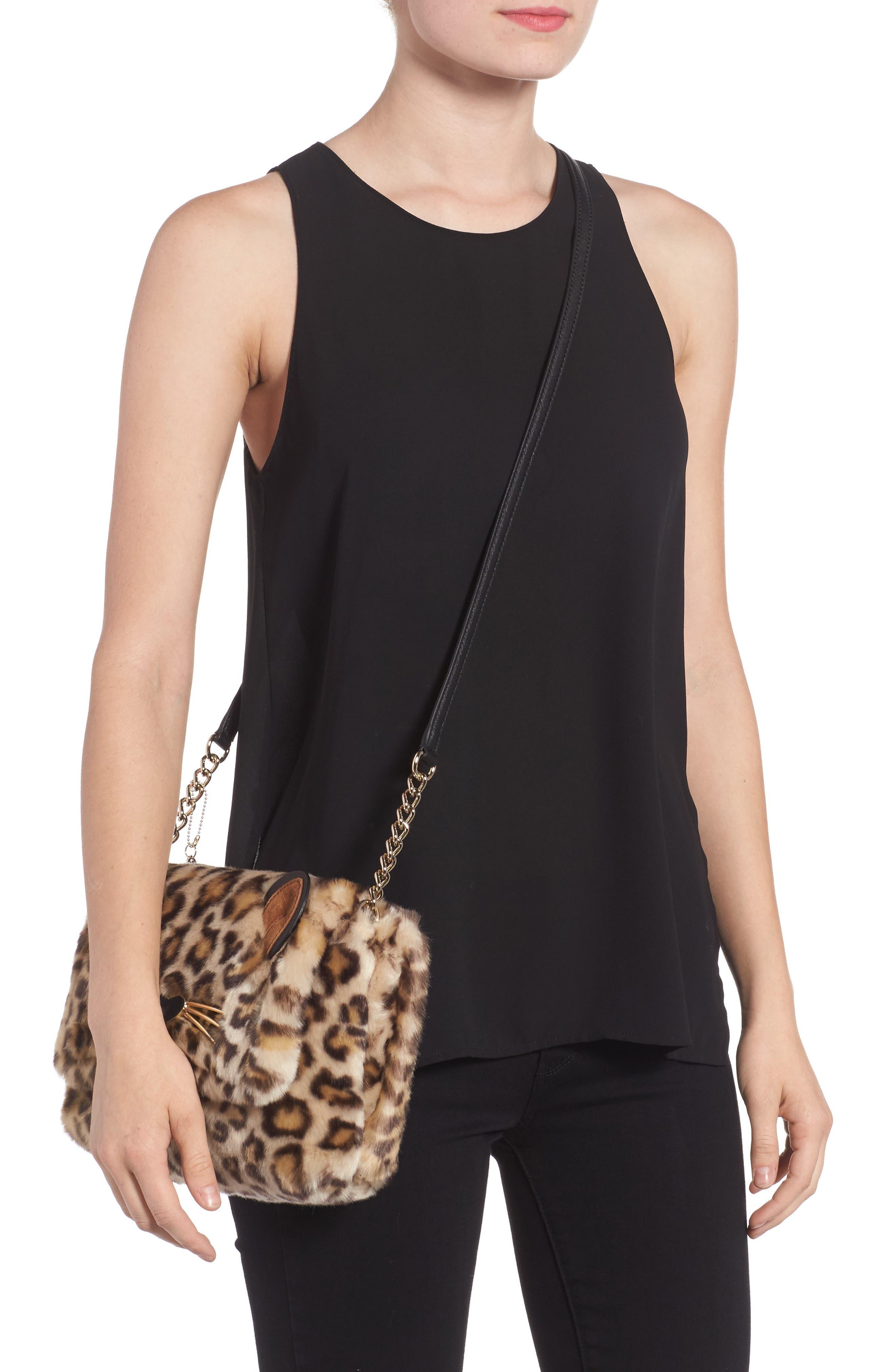 run wild faux fur shoulder bag/muff,                             Alternate thumbnail 2, color,                             200