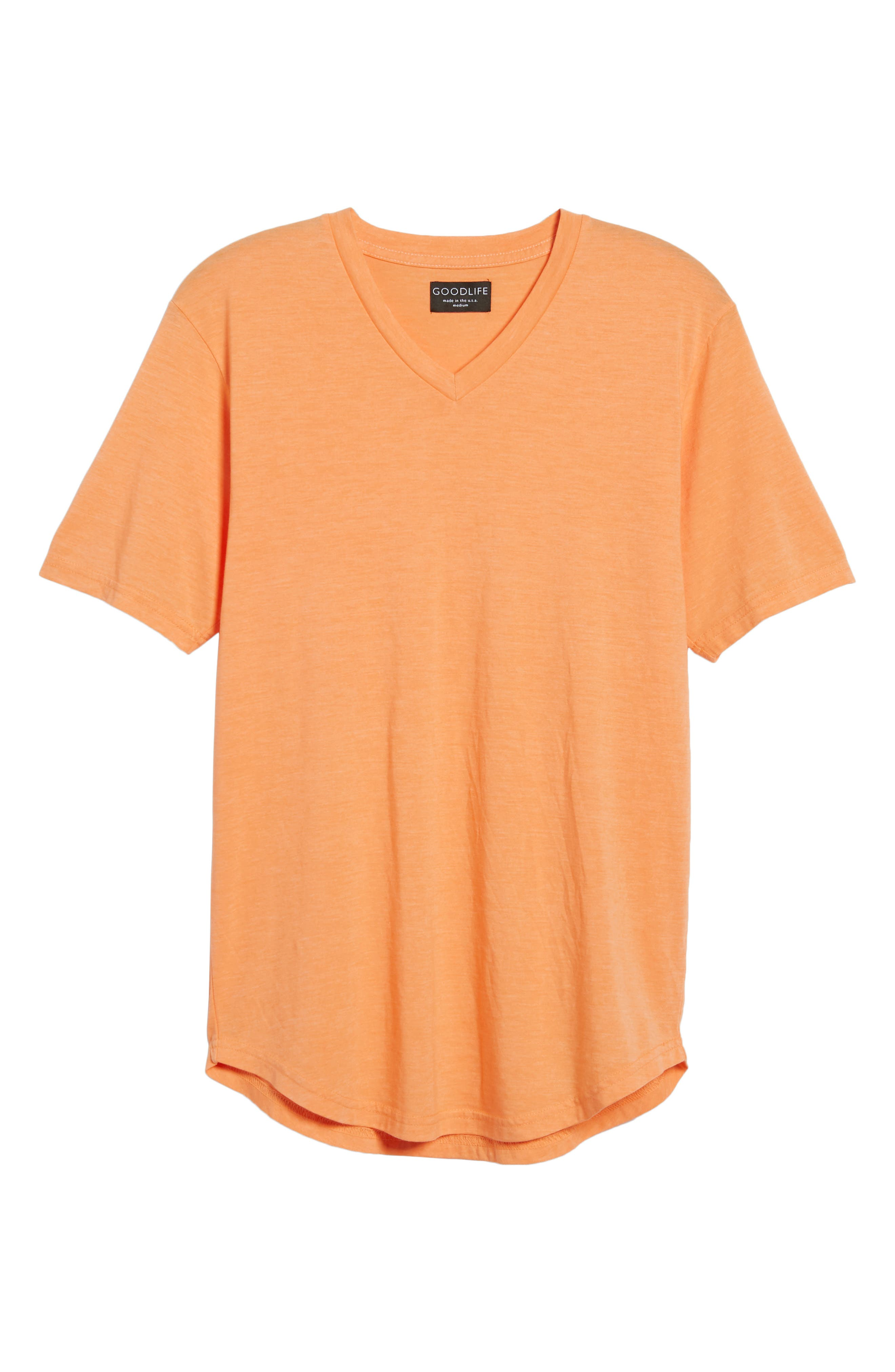 Scallop Triblend V-Neck T-Shirt,                             Alternate thumbnail 130, color,