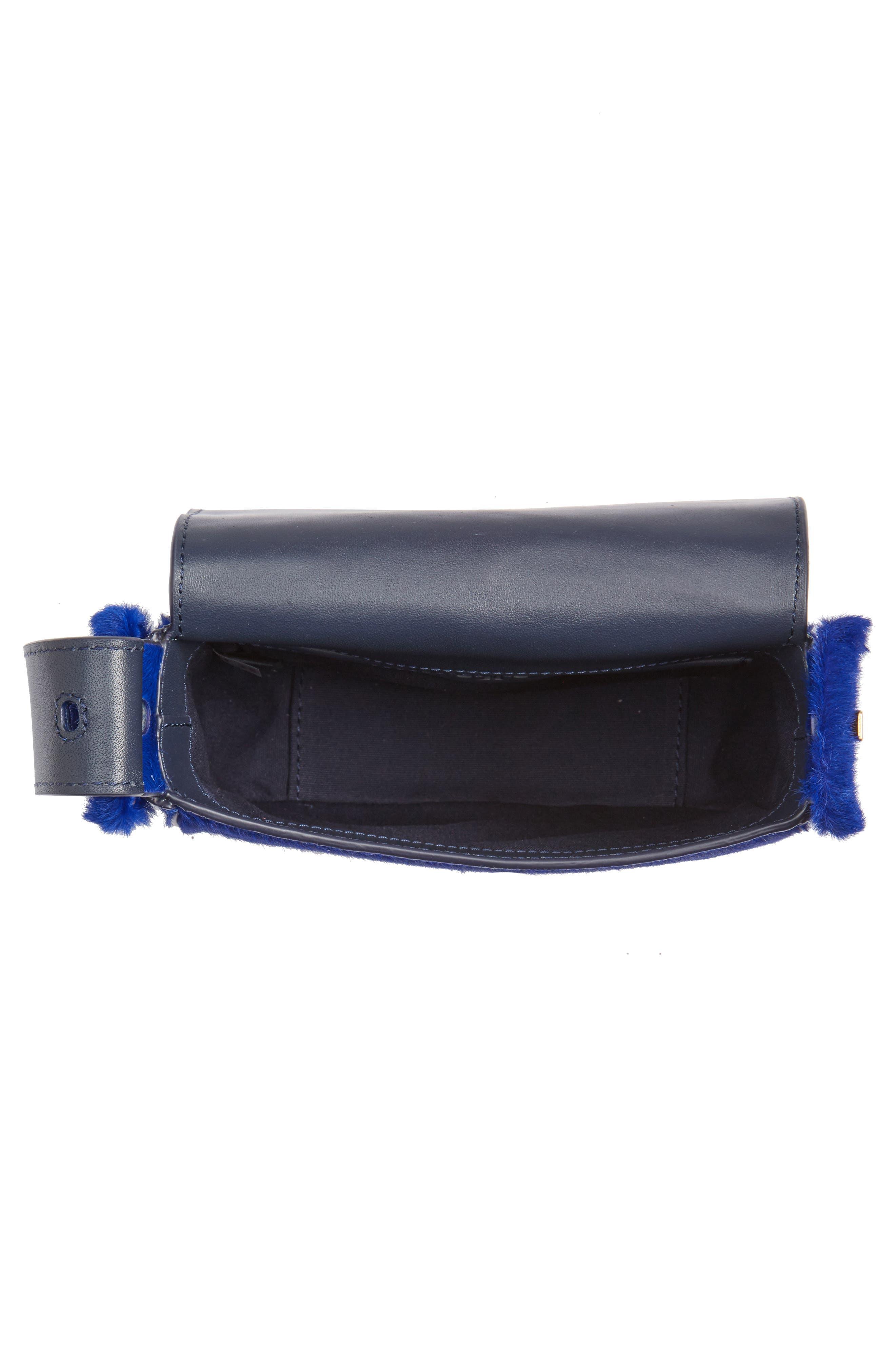 Mini Sawyer Genuine Calf Hair Shoulder Bag,                             Alternate thumbnail 4, color,                             418