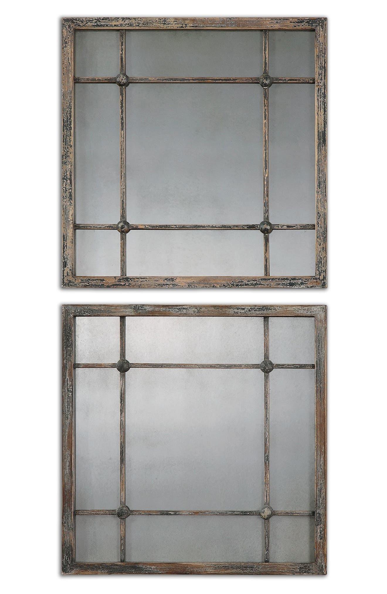 'Saragano' Square Mirror,                             Alternate thumbnail 4, color,