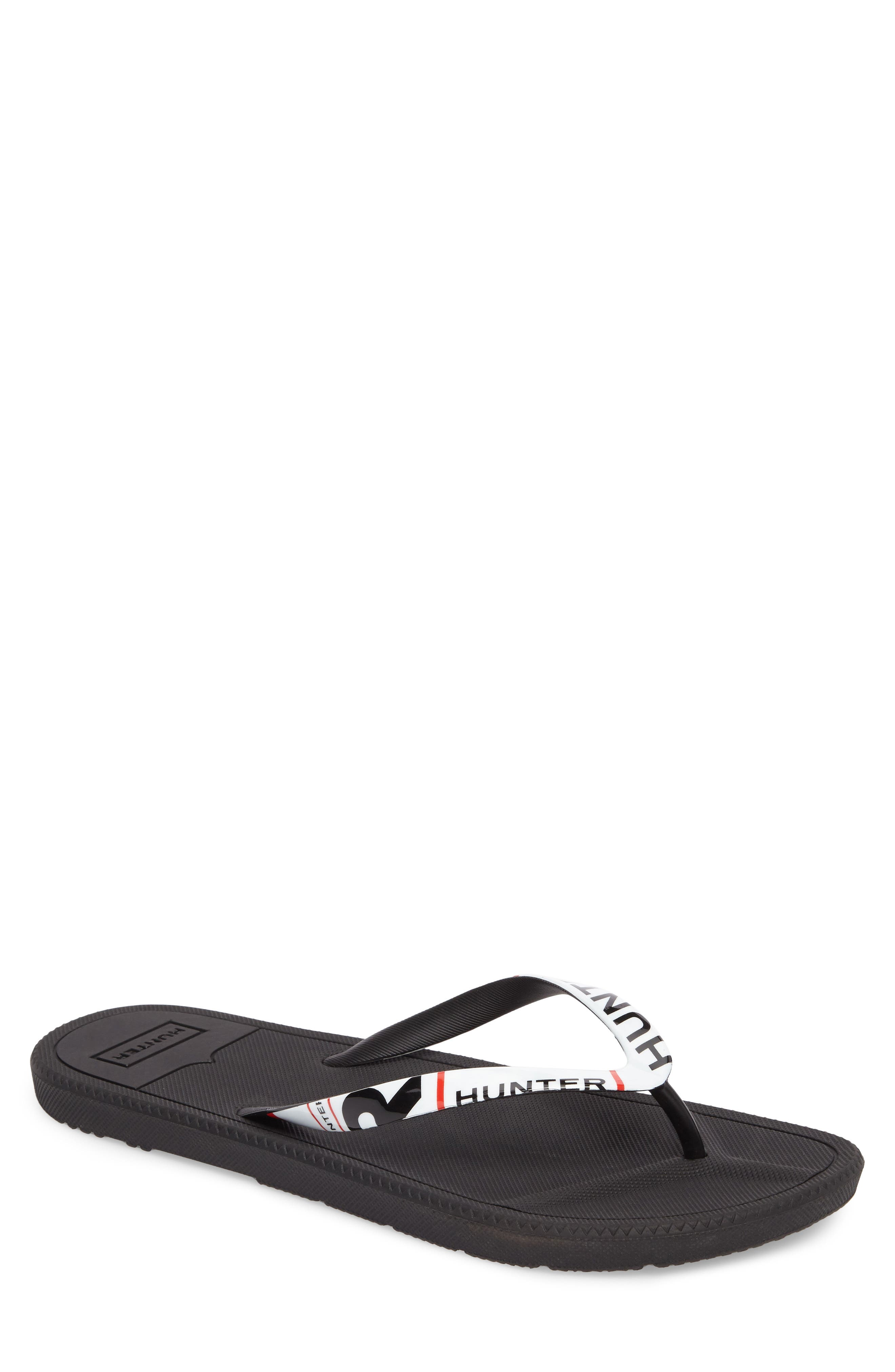 Original Exploded Logo Flip Flop,                             Main thumbnail 1, color,                             BLACK