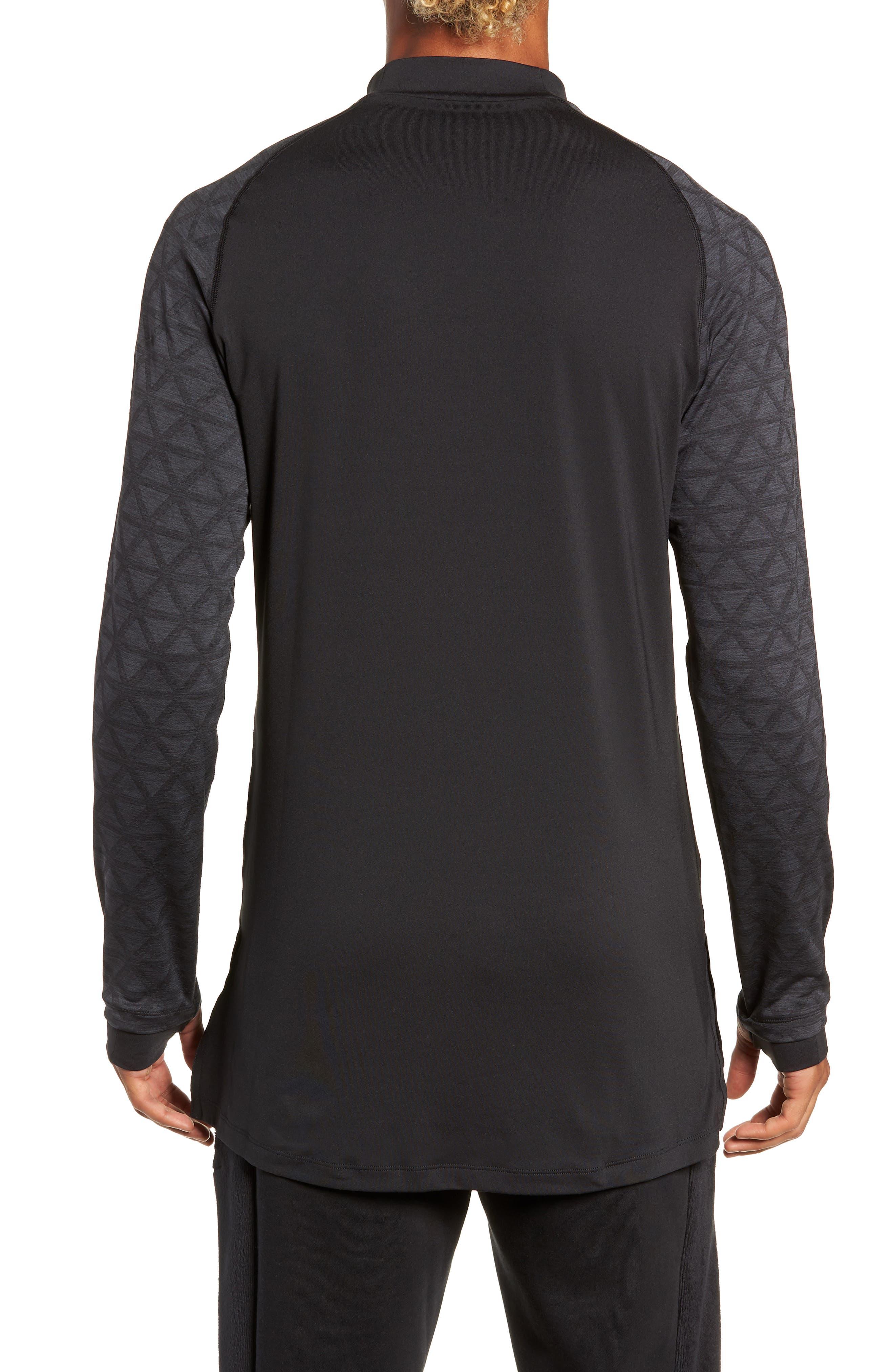 NIKE,                             Niko Pro Therma Long Sleeve Mock Neck T-Shirt,                             Alternate thumbnail 2, color,                             010