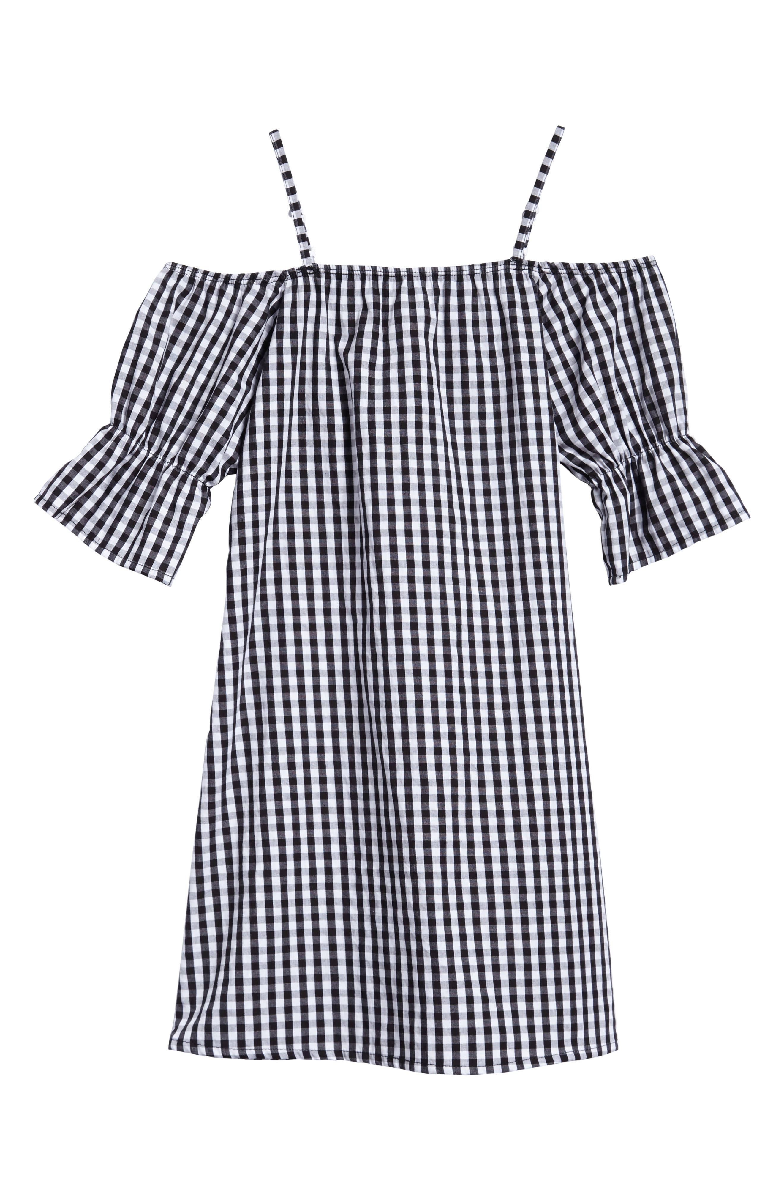Off the Shoulder Dress,                             Main thumbnail 1, color,                             001