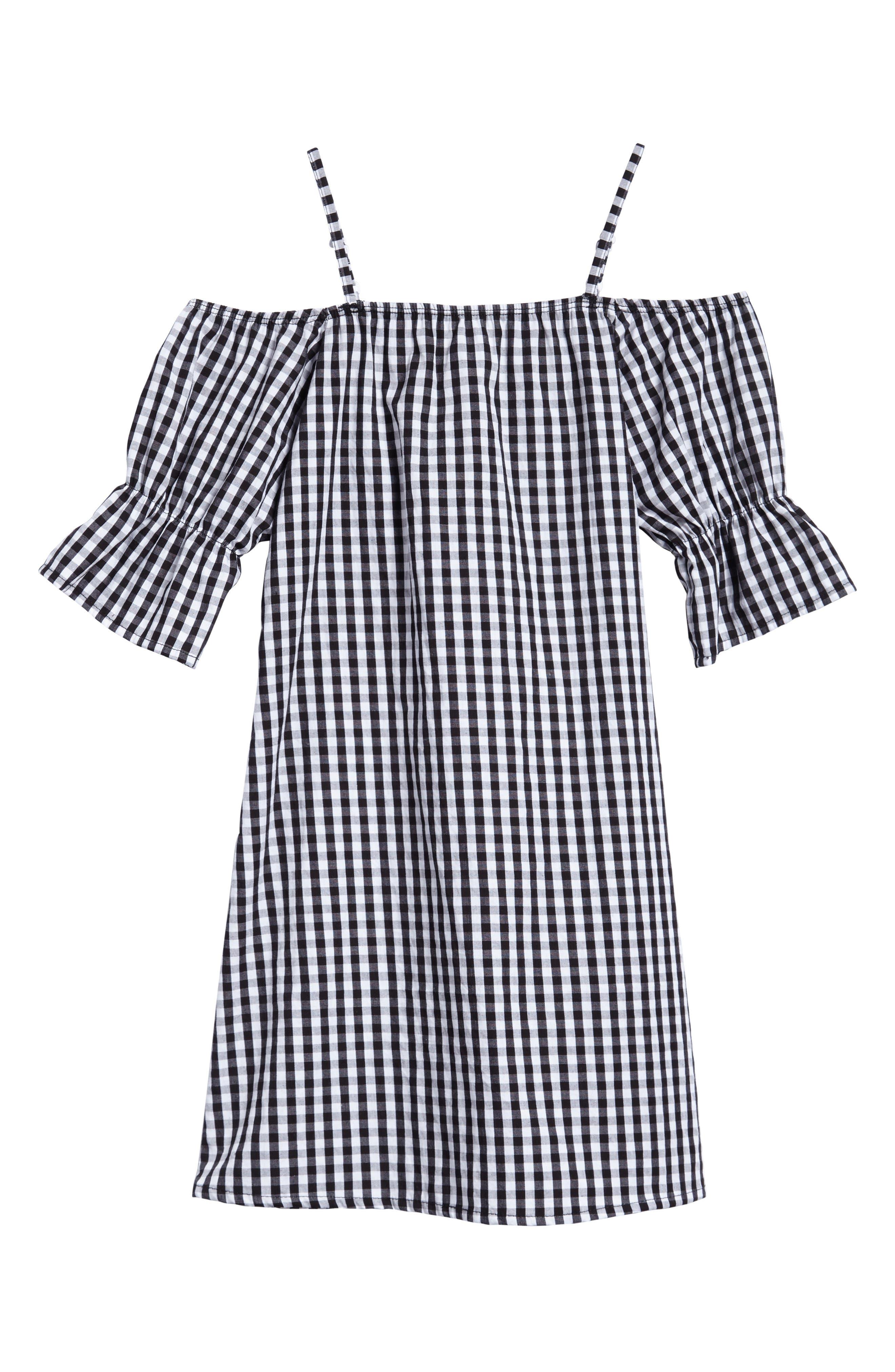Off the Shoulder Dress,                         Main,                         color, 001