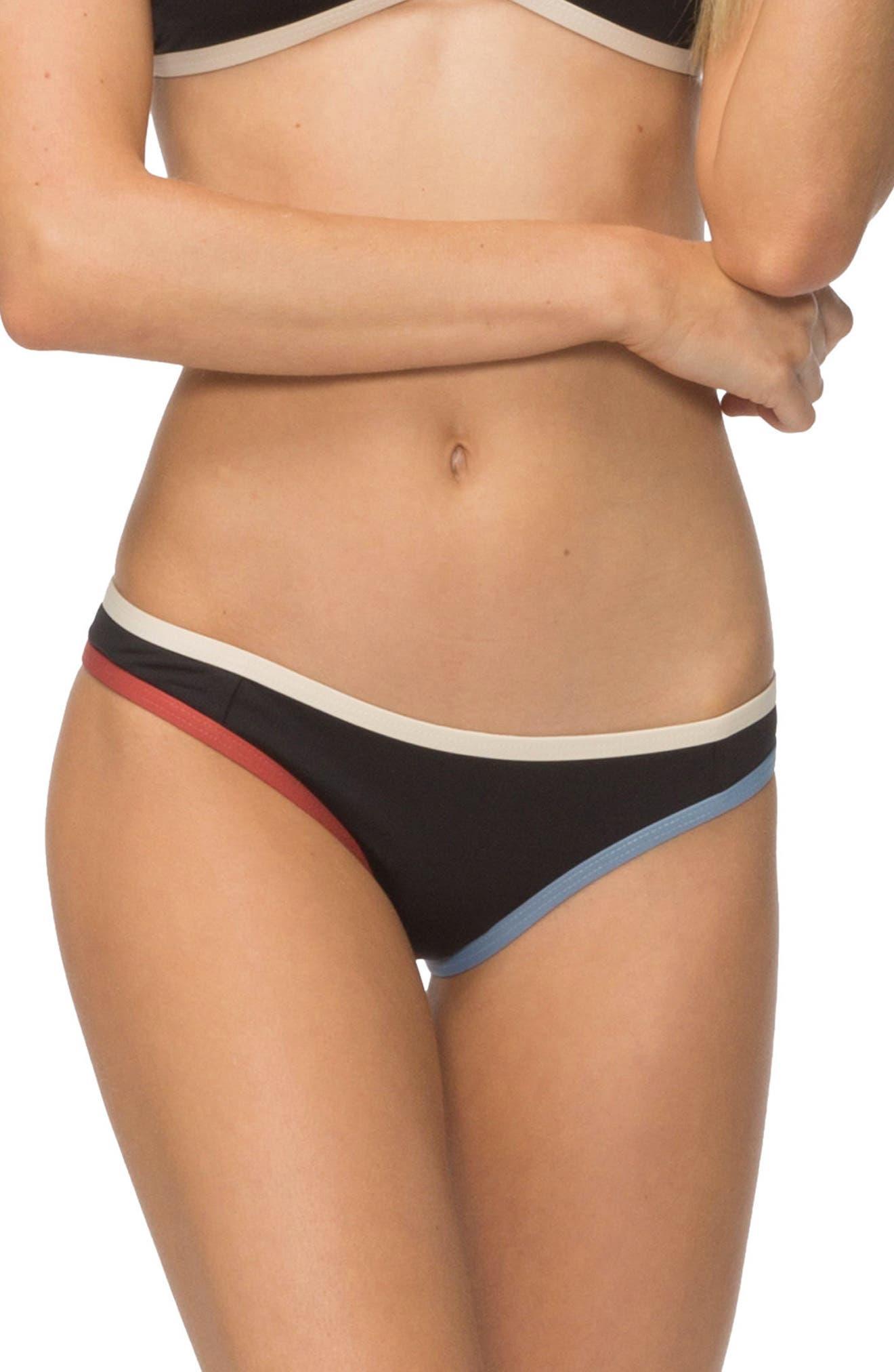 Jayden Bikini Bottoms,                             Main thumbnail 1, color,                             BLACK COLORBLOCK