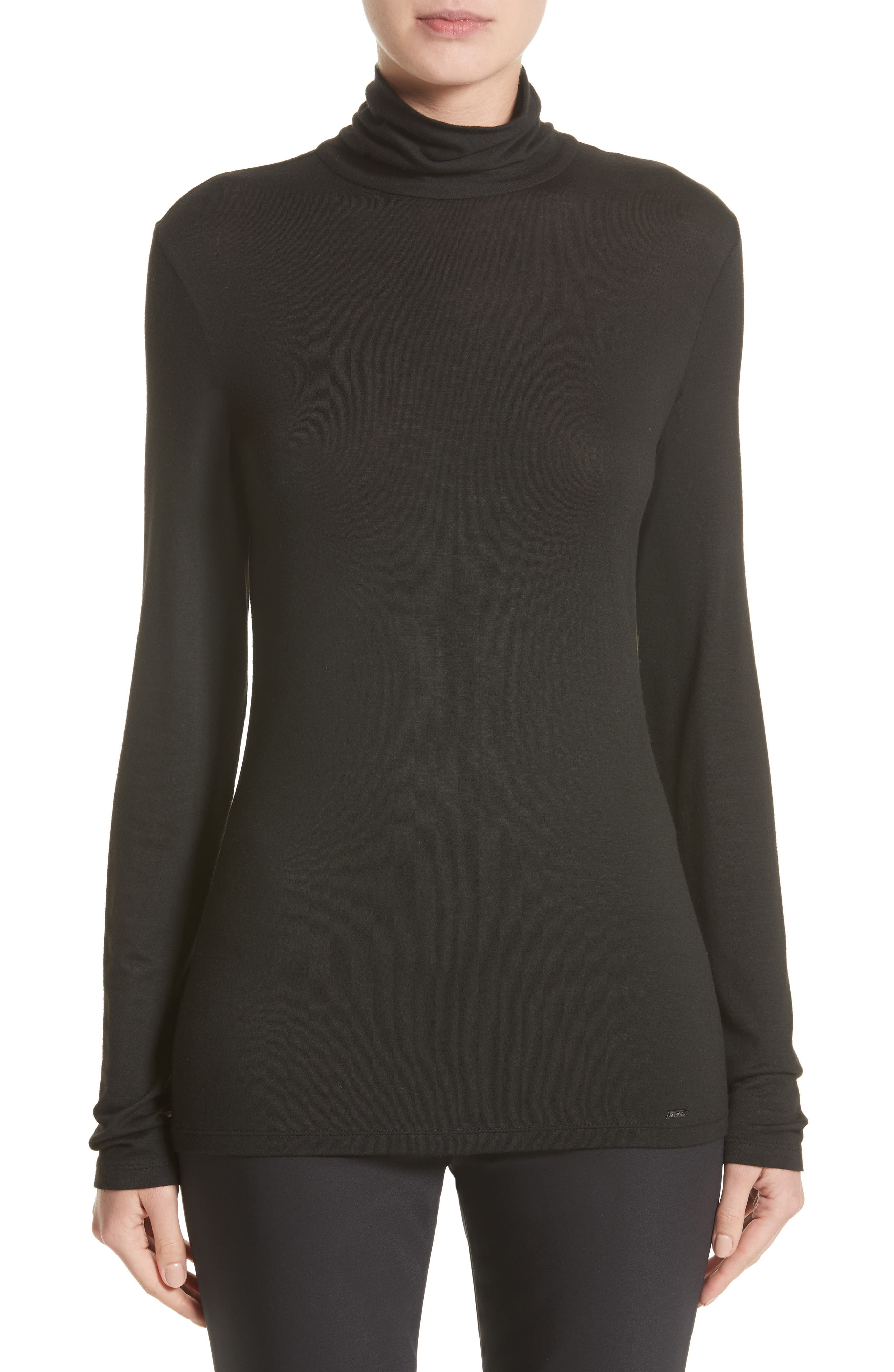 Stretch Jersey Top,                         Main,                         color,