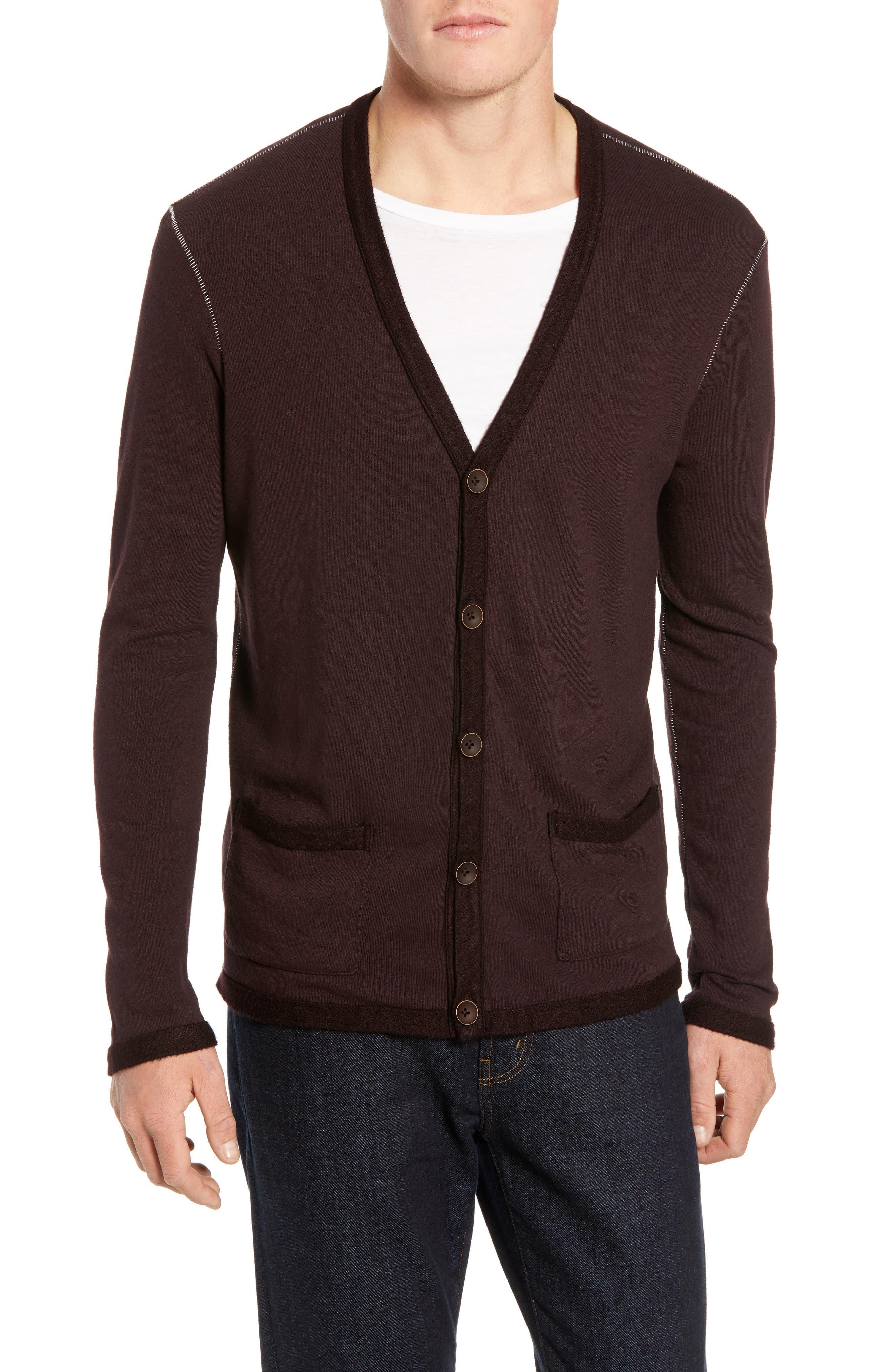 M.singer Cardigan Sweater, Purple
