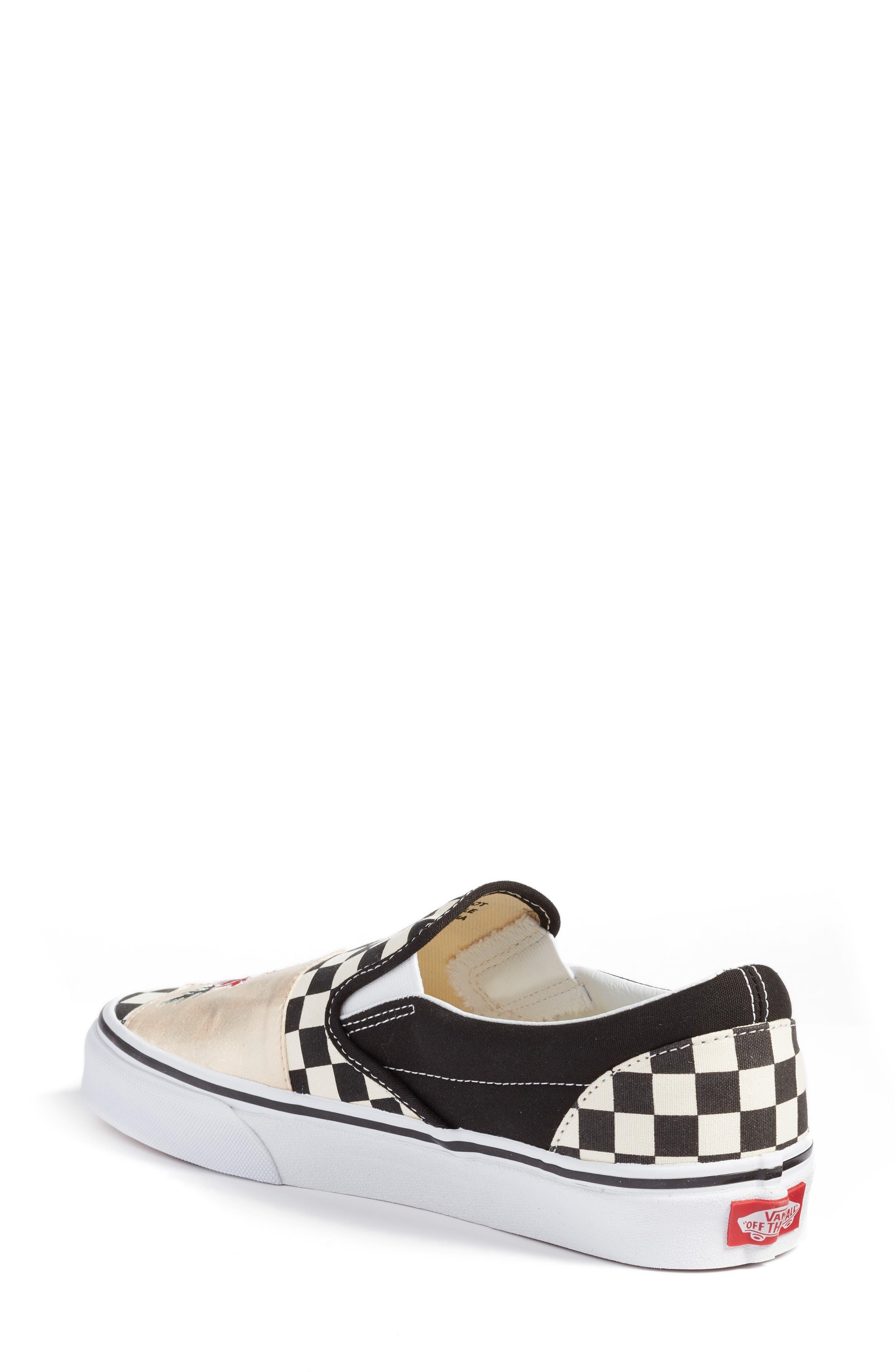 UA Classic Slip-On Sneaker,                             Alternate thumbnail 2, color,                             CHECKER/ ROSE