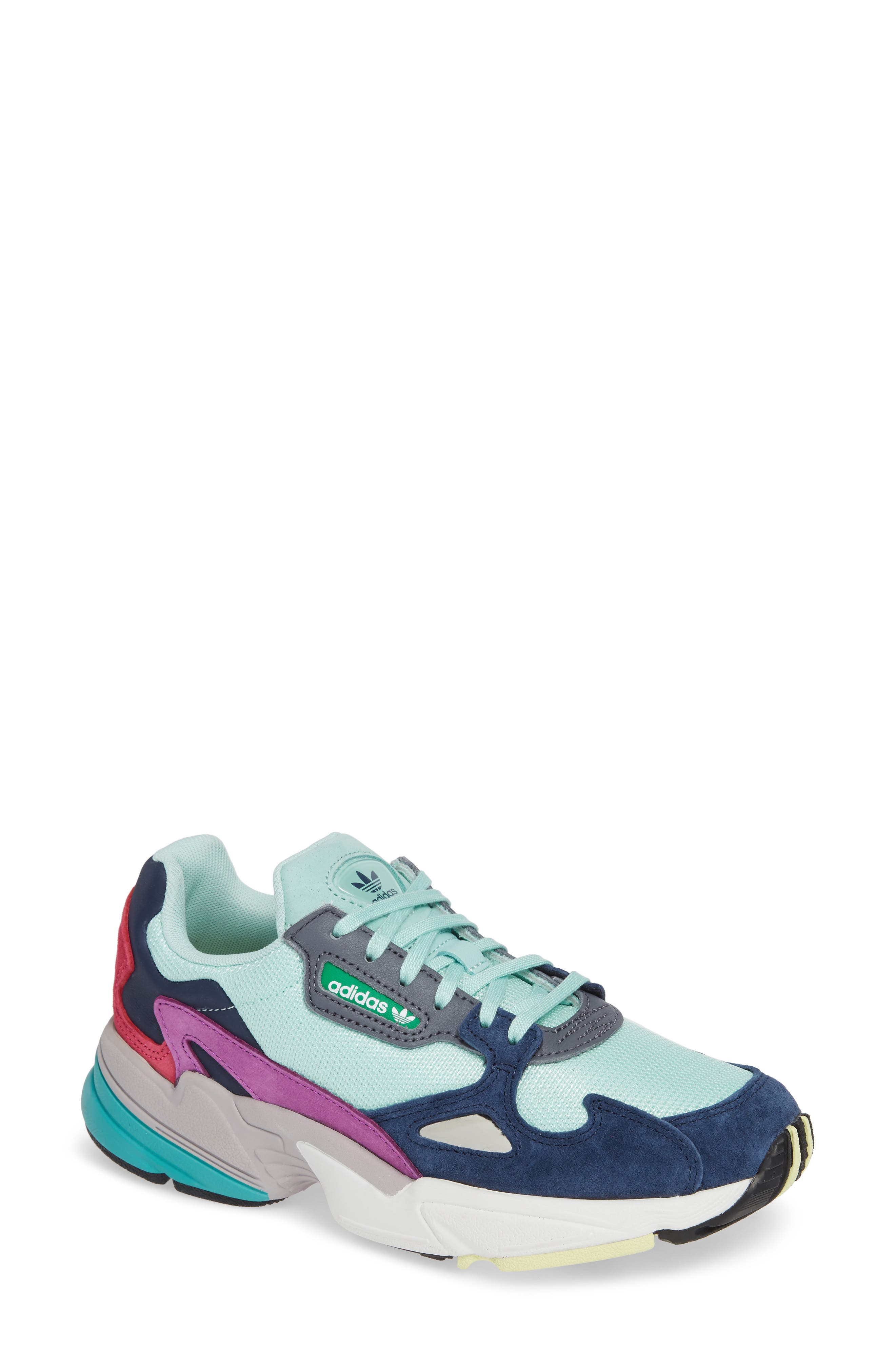 Falcon Sneaker,                             Main thumbnail 1, color,                             CLEAR MINT/ CLEAR MINT/ NAVY