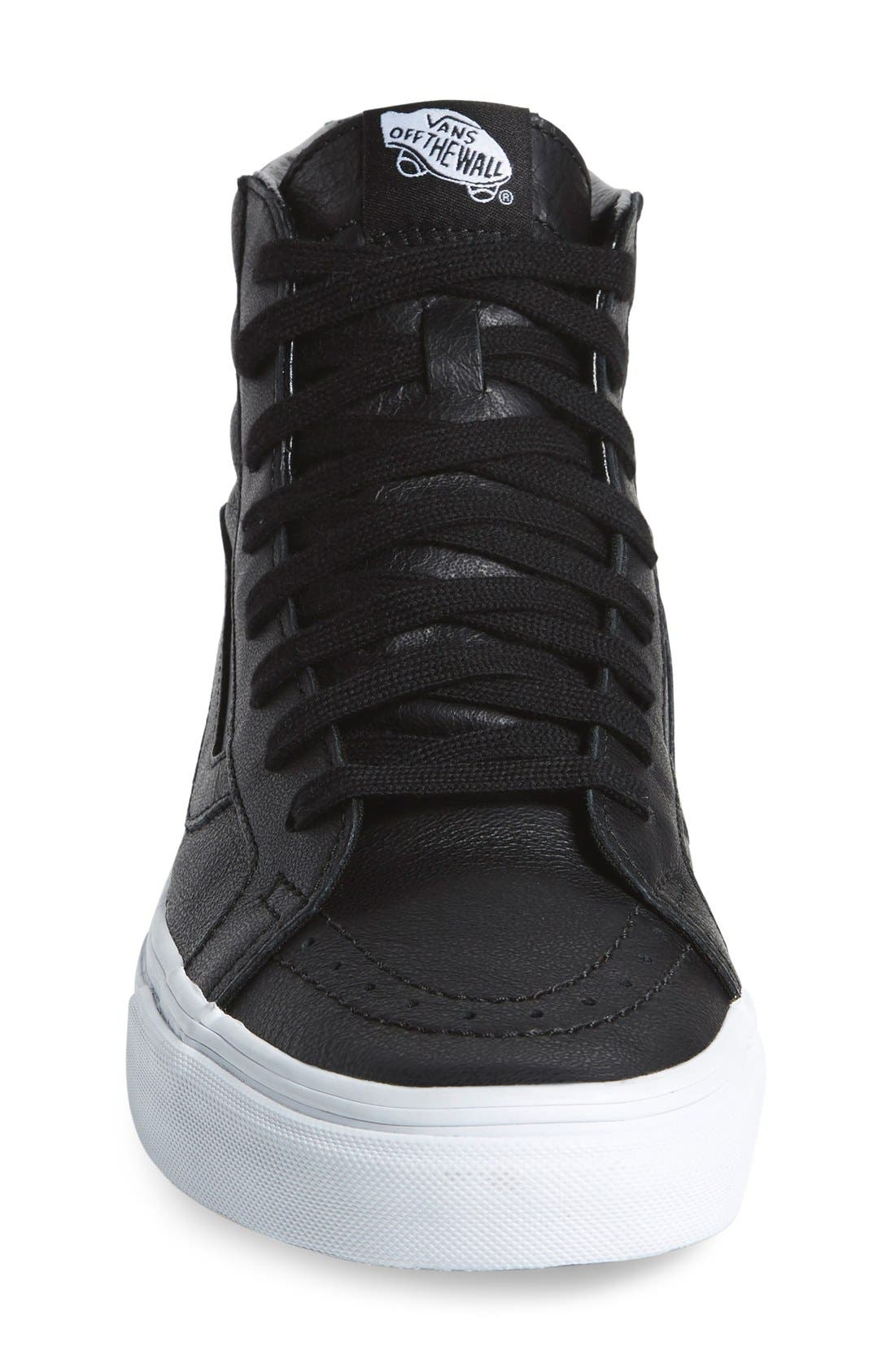'Sk8-Hi Reissue' Sneaker,                             Alternate thumbnail 4, color,                             001