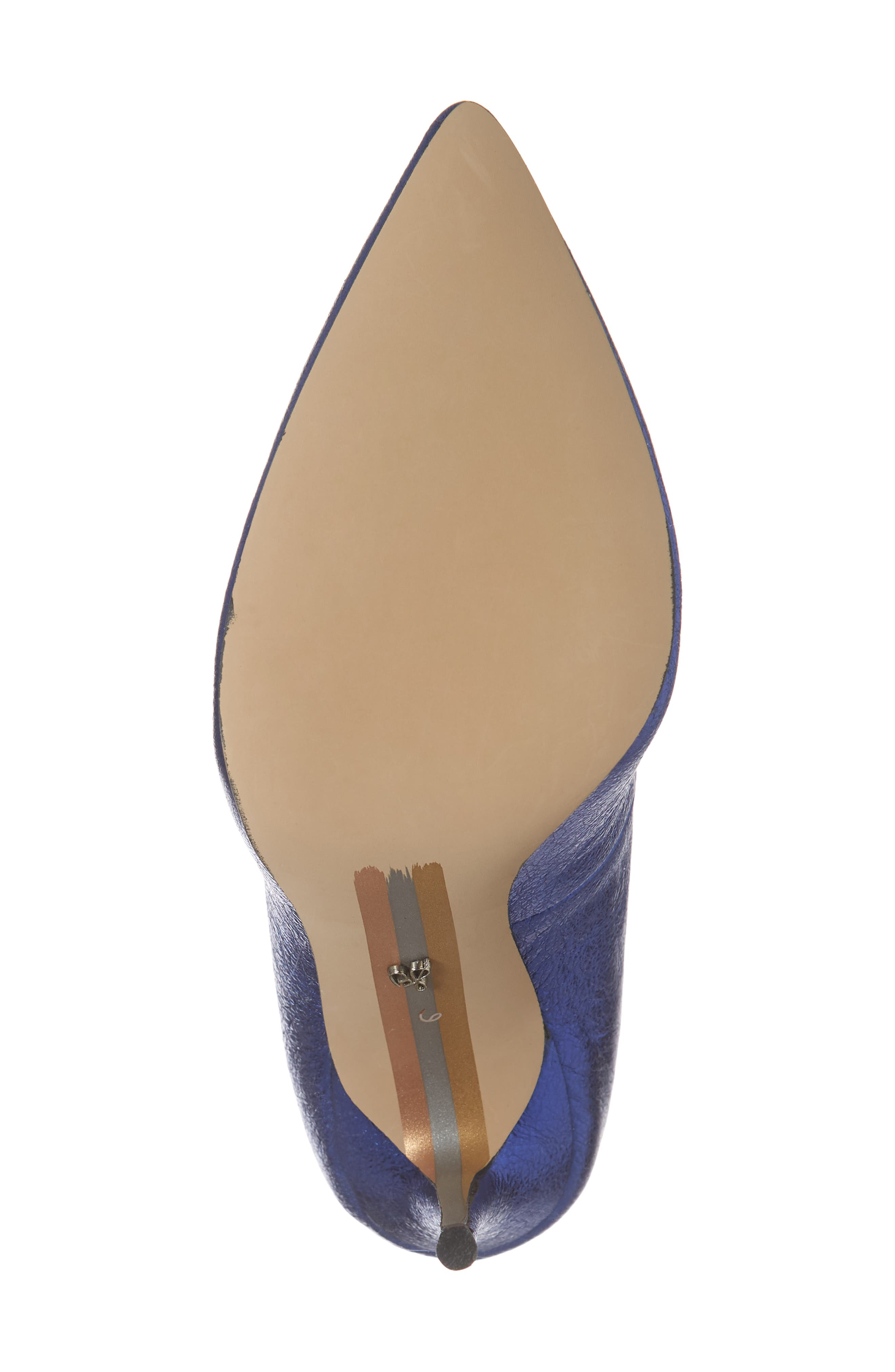 Danna Pointy Toe Pump,                             Alternate thumbnail 6, color,                             ROYAL BLUE LEATHER