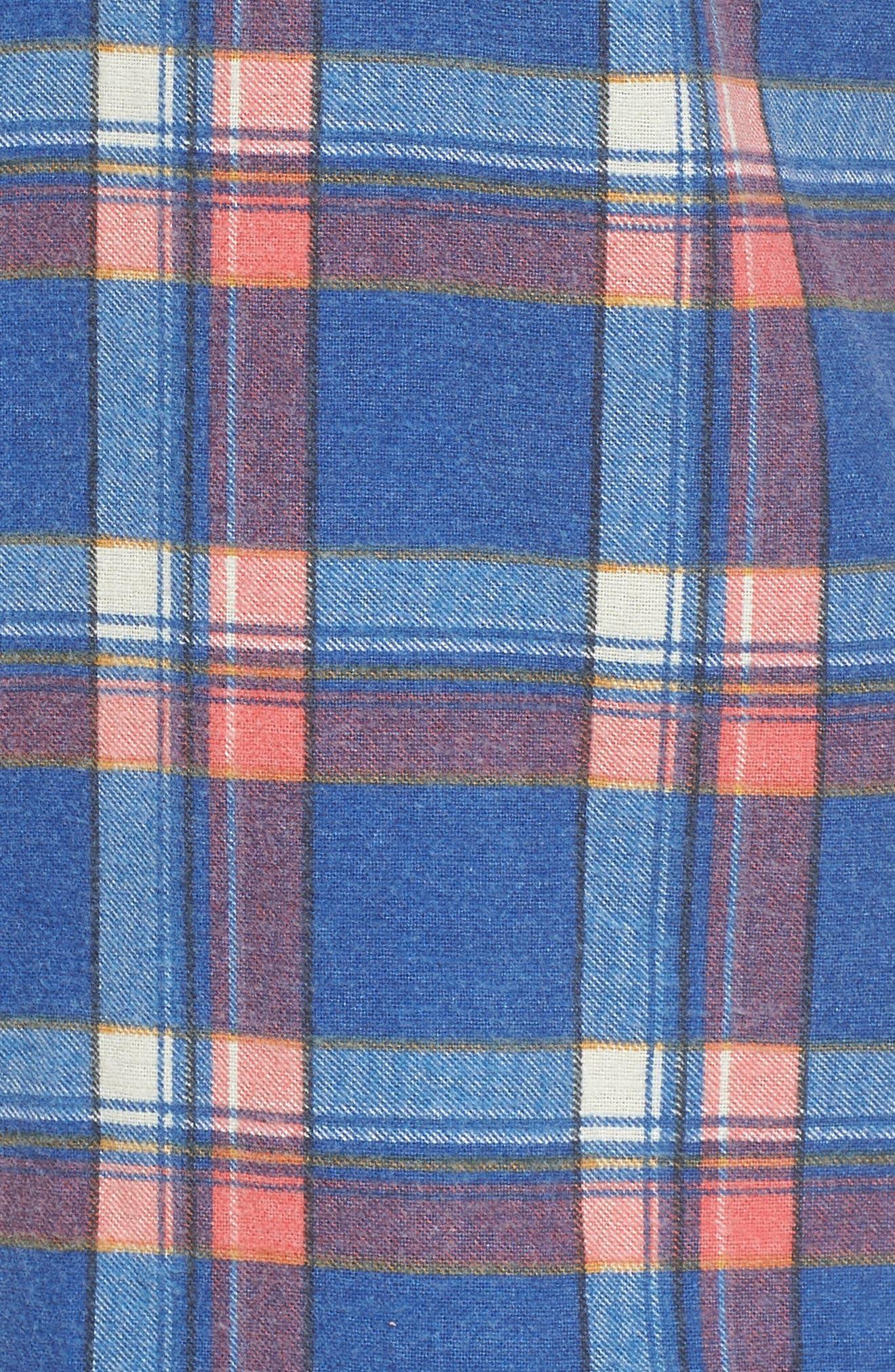x Kevin Long Plaid Shirt,                             Alternate thumbnail 5, color,                             462