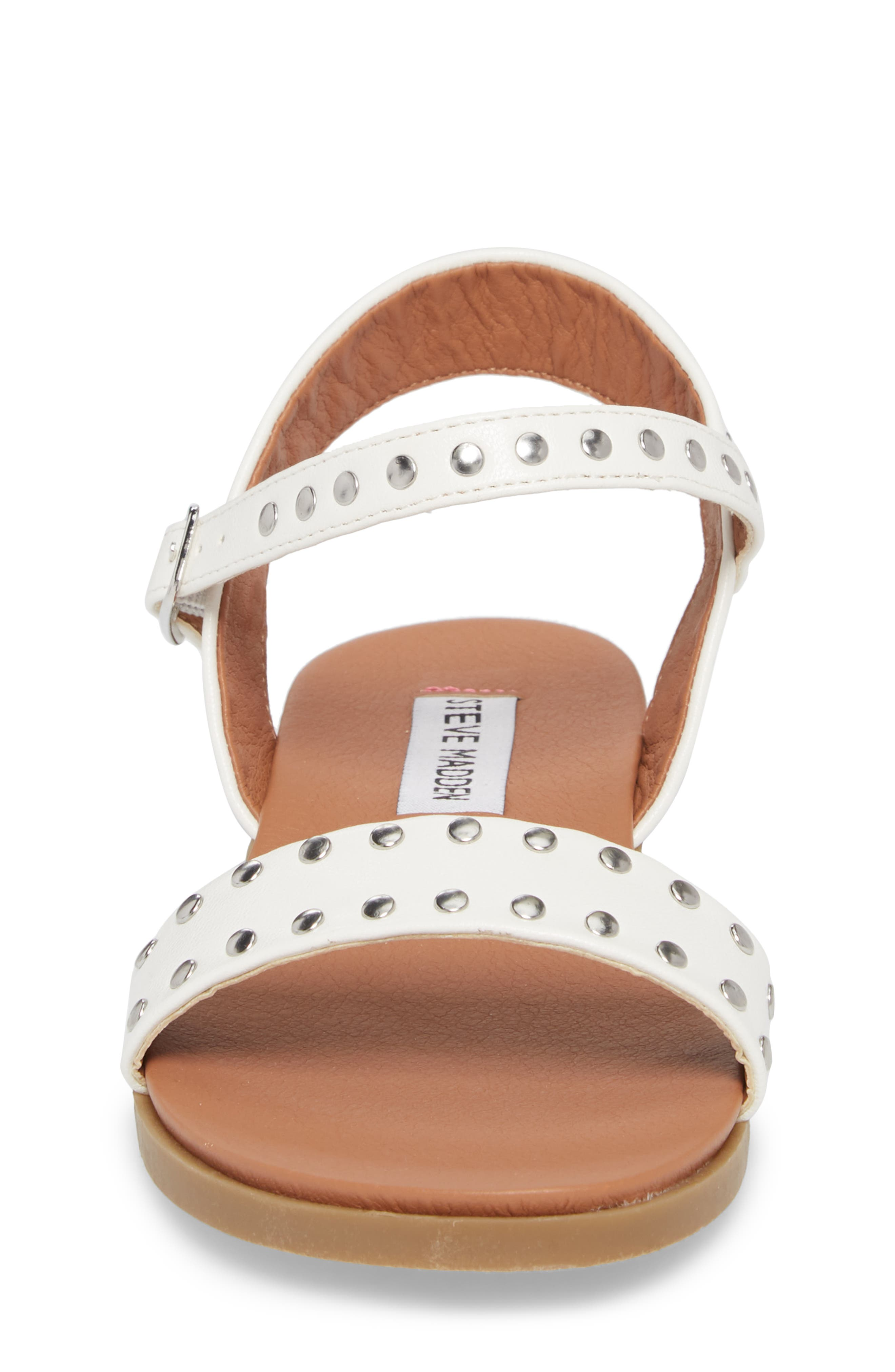 JDONDI Studded Sandal,                             Alternate thumbnail 4, color,                             WHITE