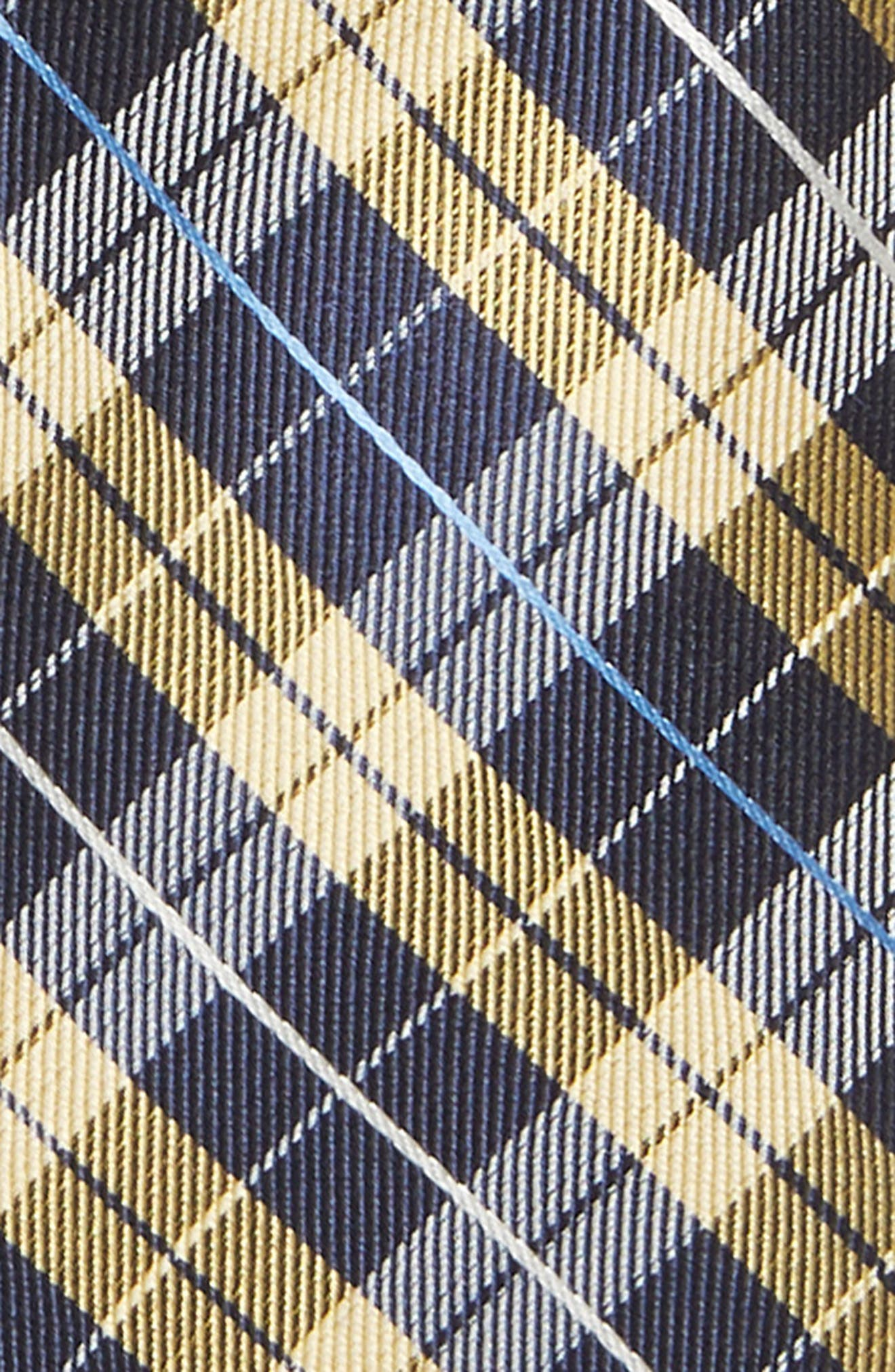 Plaid Silk Tie,                             Alternate thumbnail 2, color,                             YELLOW