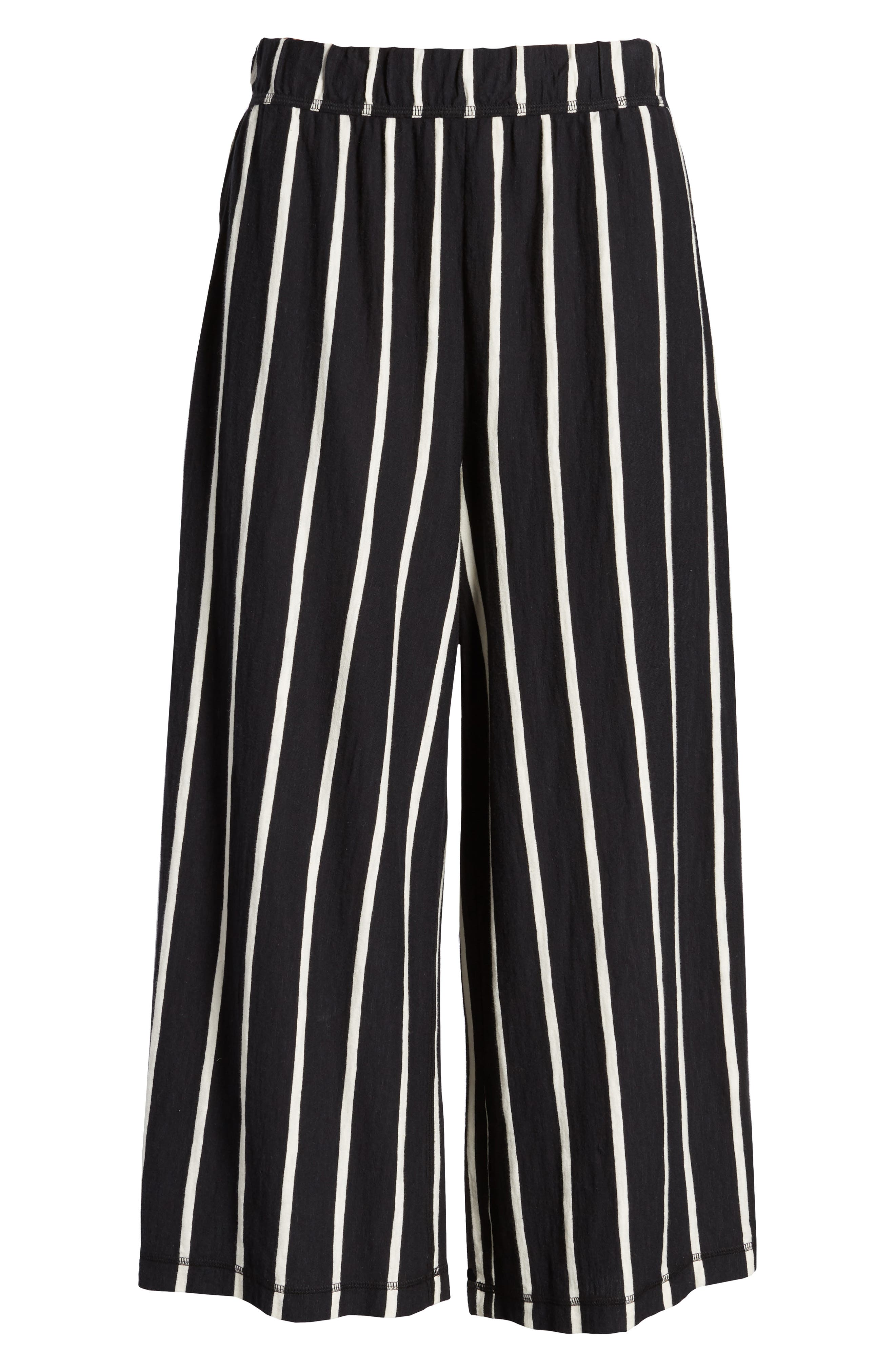 Stripe Organic Cotton Capri Pants,                             Alternate thumbnail 7, color,                             018