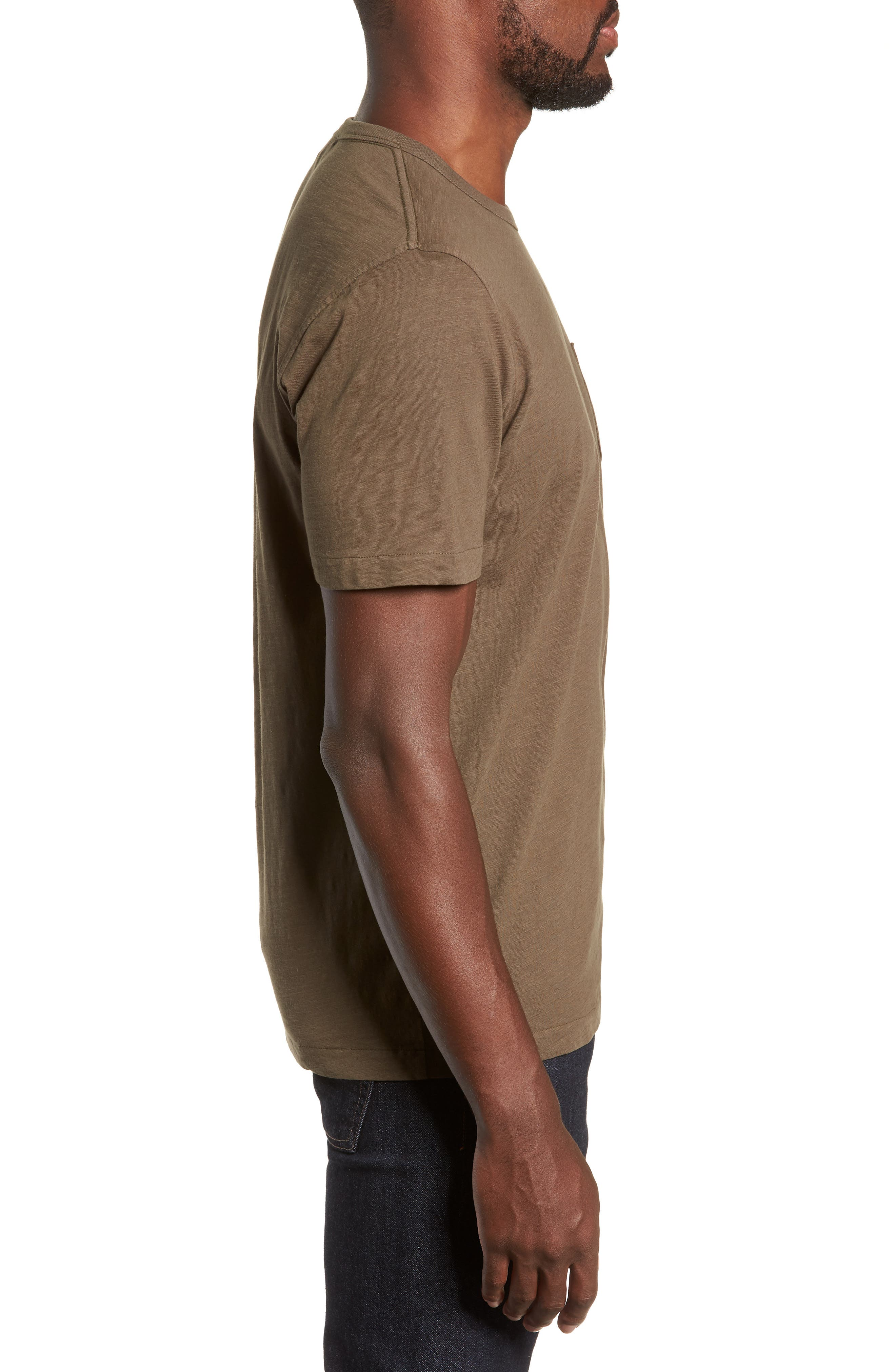 Slubbed Pocket T-Shirt,                             Alternate thumbnail 3, color,                             GREEN