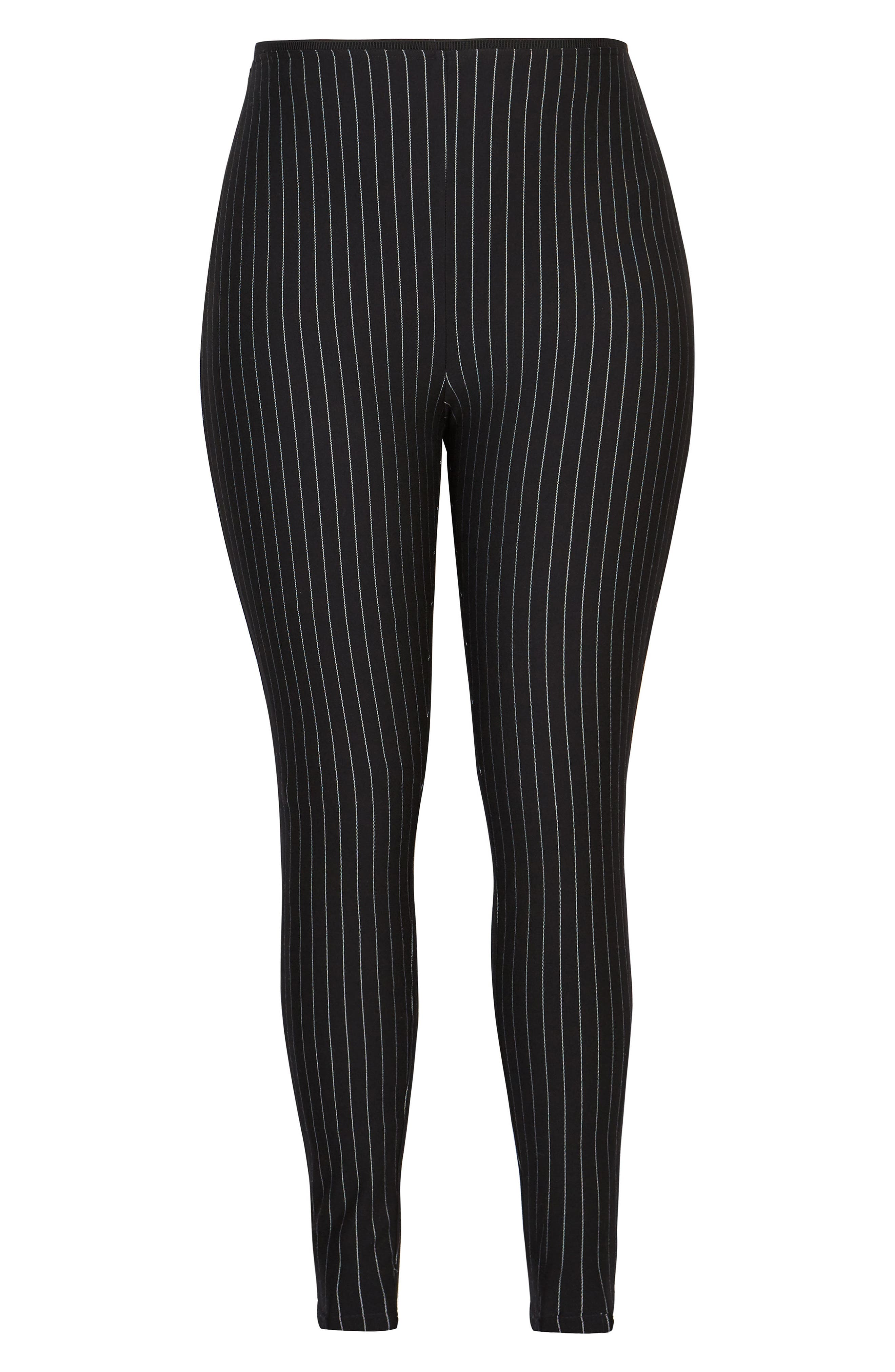 CITY CHIC,                             Chic City Simply Striped Skinny Pants,                             Alternate thumbnail 2, color,                             001