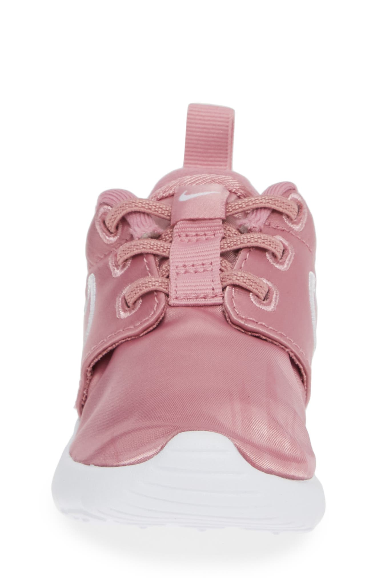 Roshe Run Sneaker,                             Alternate thumbnail 4, color,                             ELEMENTAL PINK/ PINK-WHITE