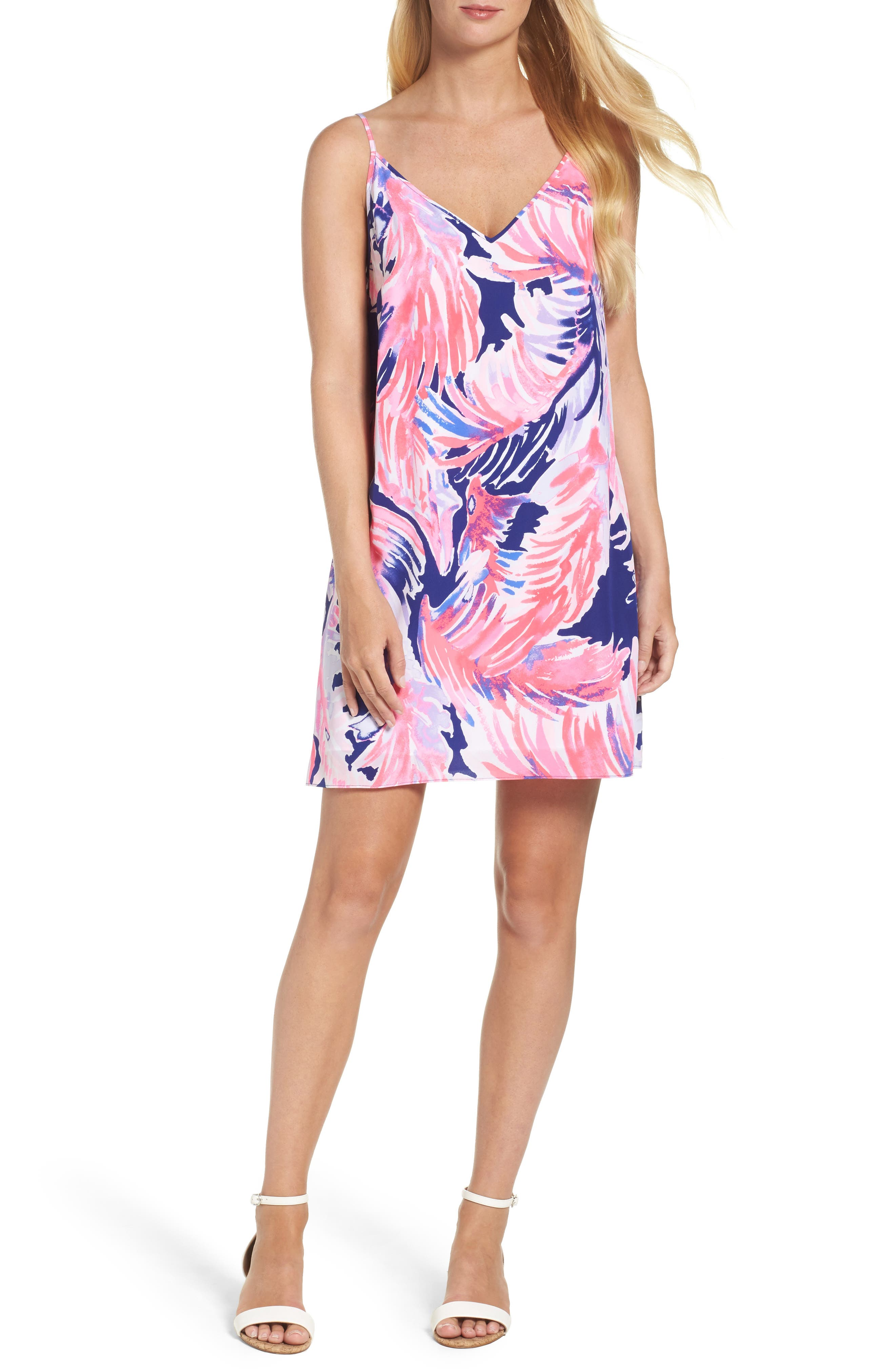 Lela Silk Slipdress,                         Main,                         color, 425