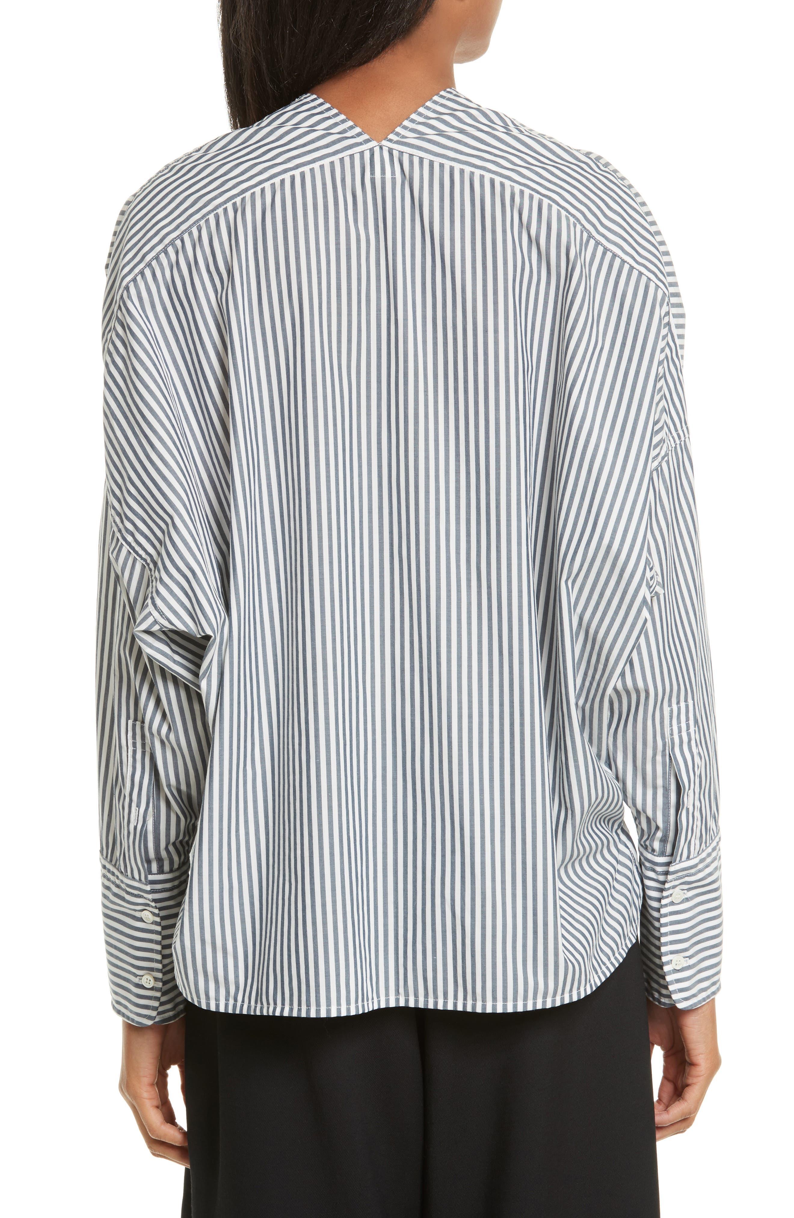 Sabine Stripe Cotton Top,                             Alternate thumbnail 2, color,                             412