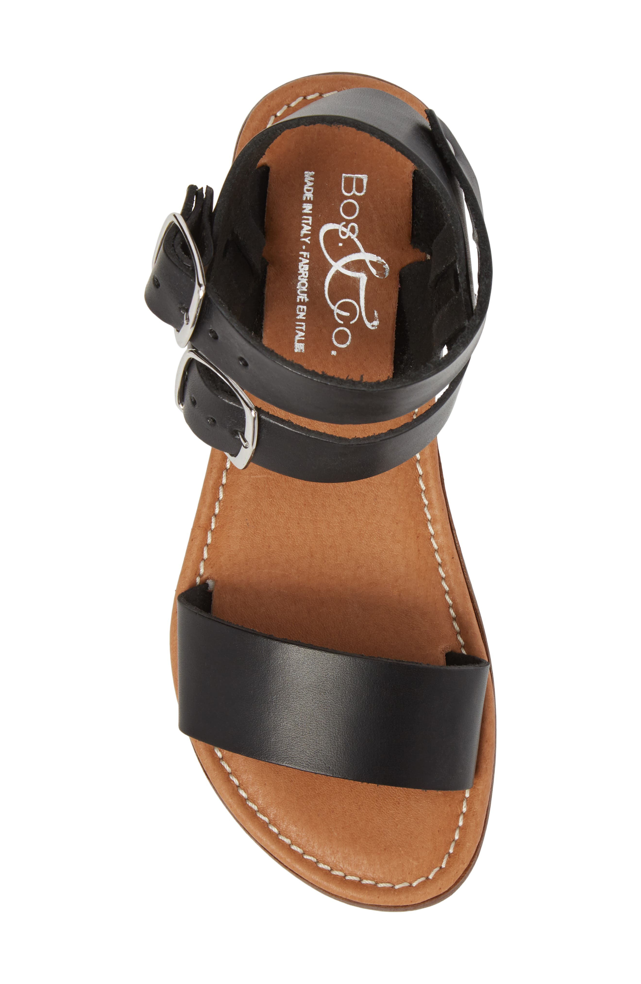 Ida Mid Top Sandal,                             Alternate thumbnail 5, color,                             BLACK VACCHETTA LEATHER