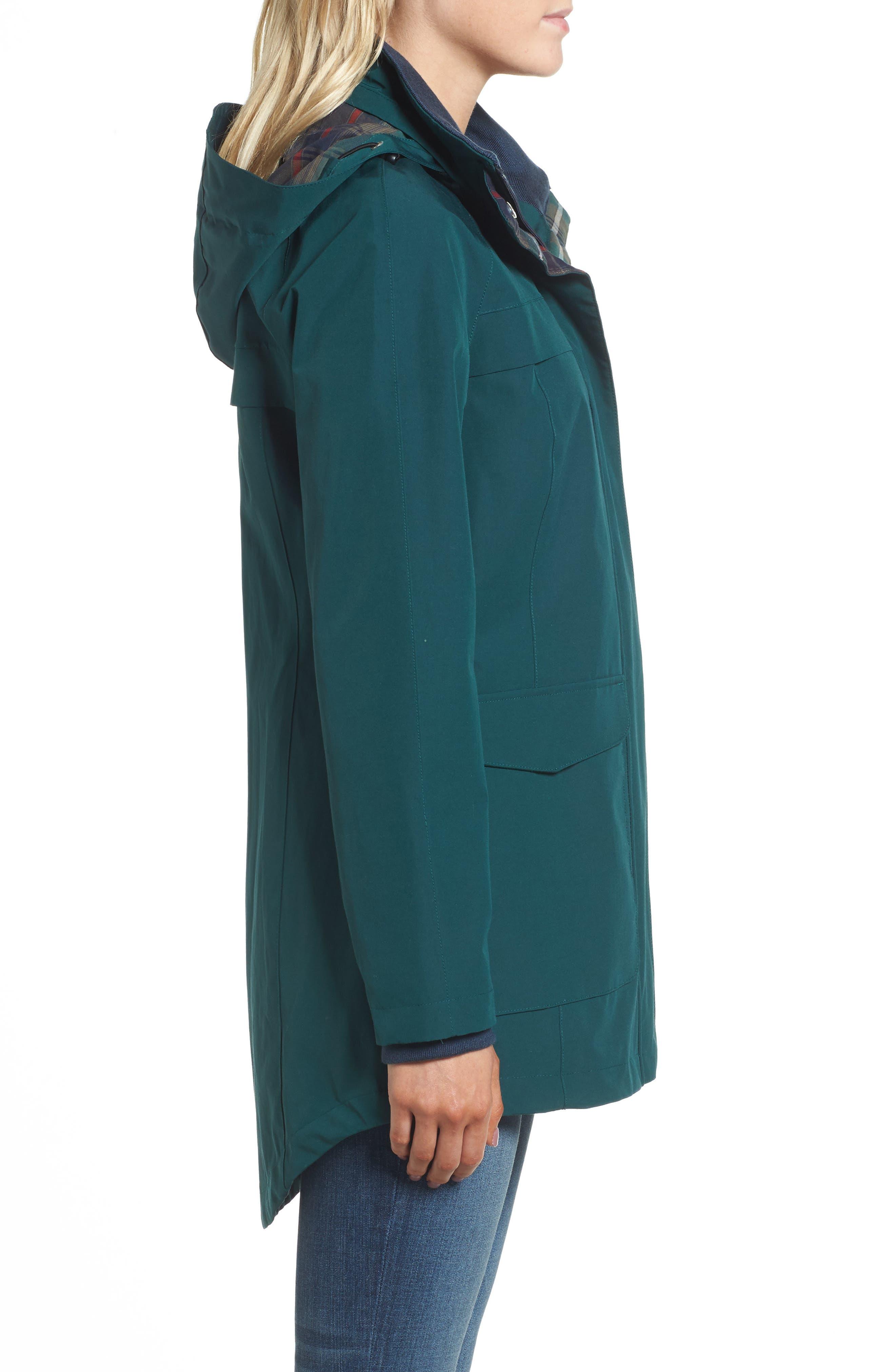Hooded Raincoat,                             Alternate thumbnail 3, color,                             PONDEROSA