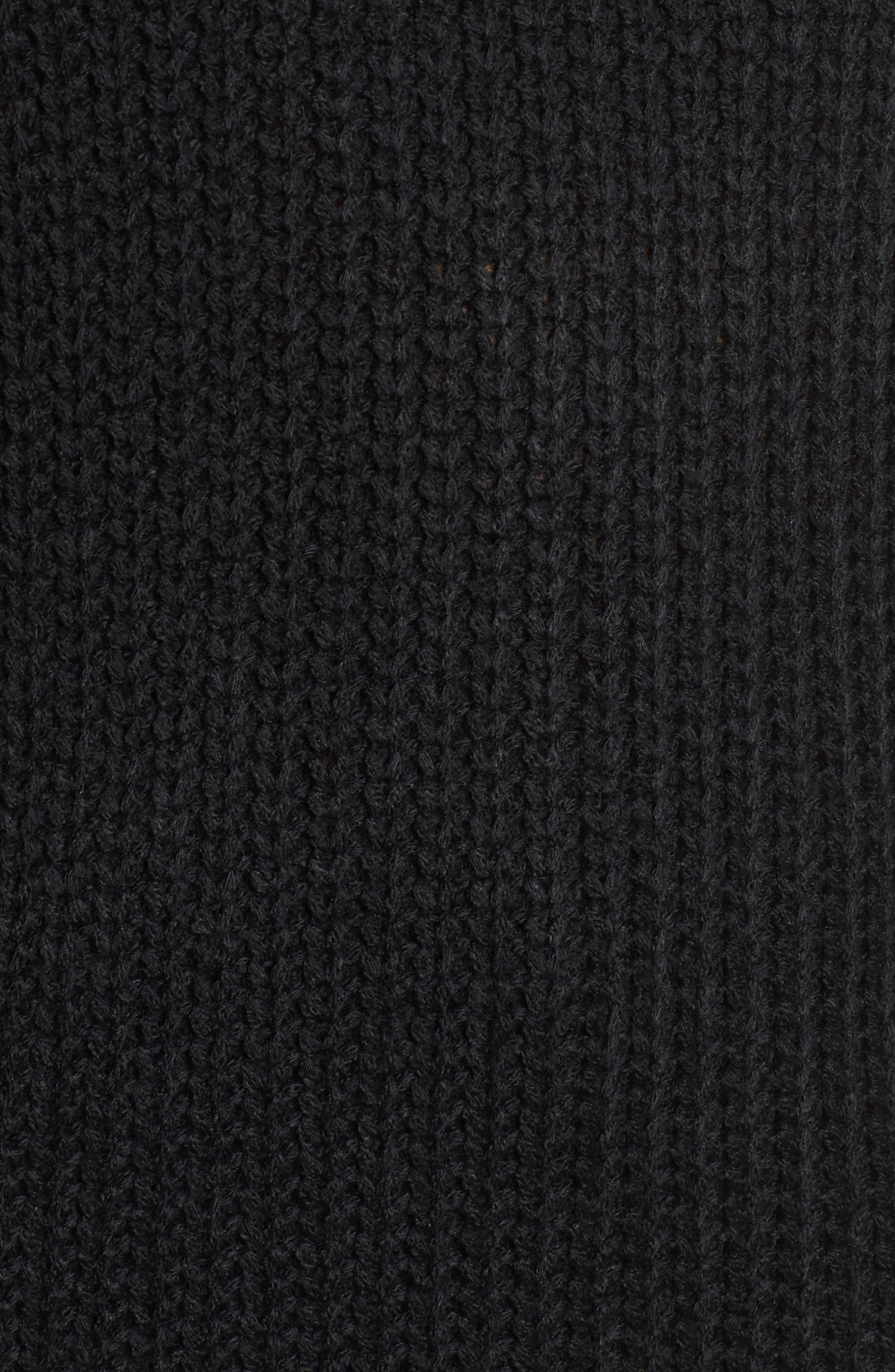 Sonya Open Back Sweater,                             Alternate thumbnail 5, color,                             001