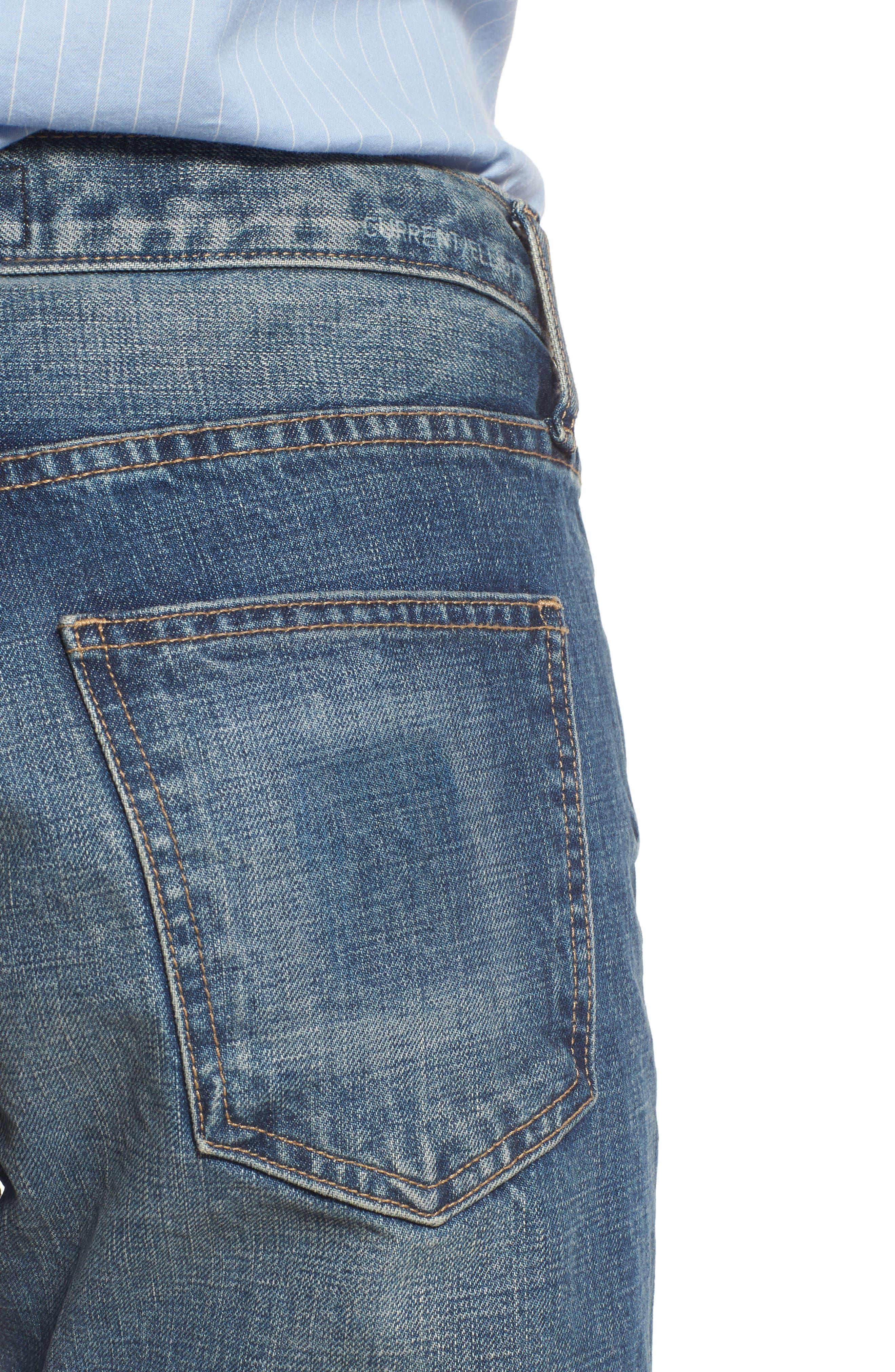 The Selvedge High Waist Crop Jeans,                             Alternate thumbnail 4, color,                             404