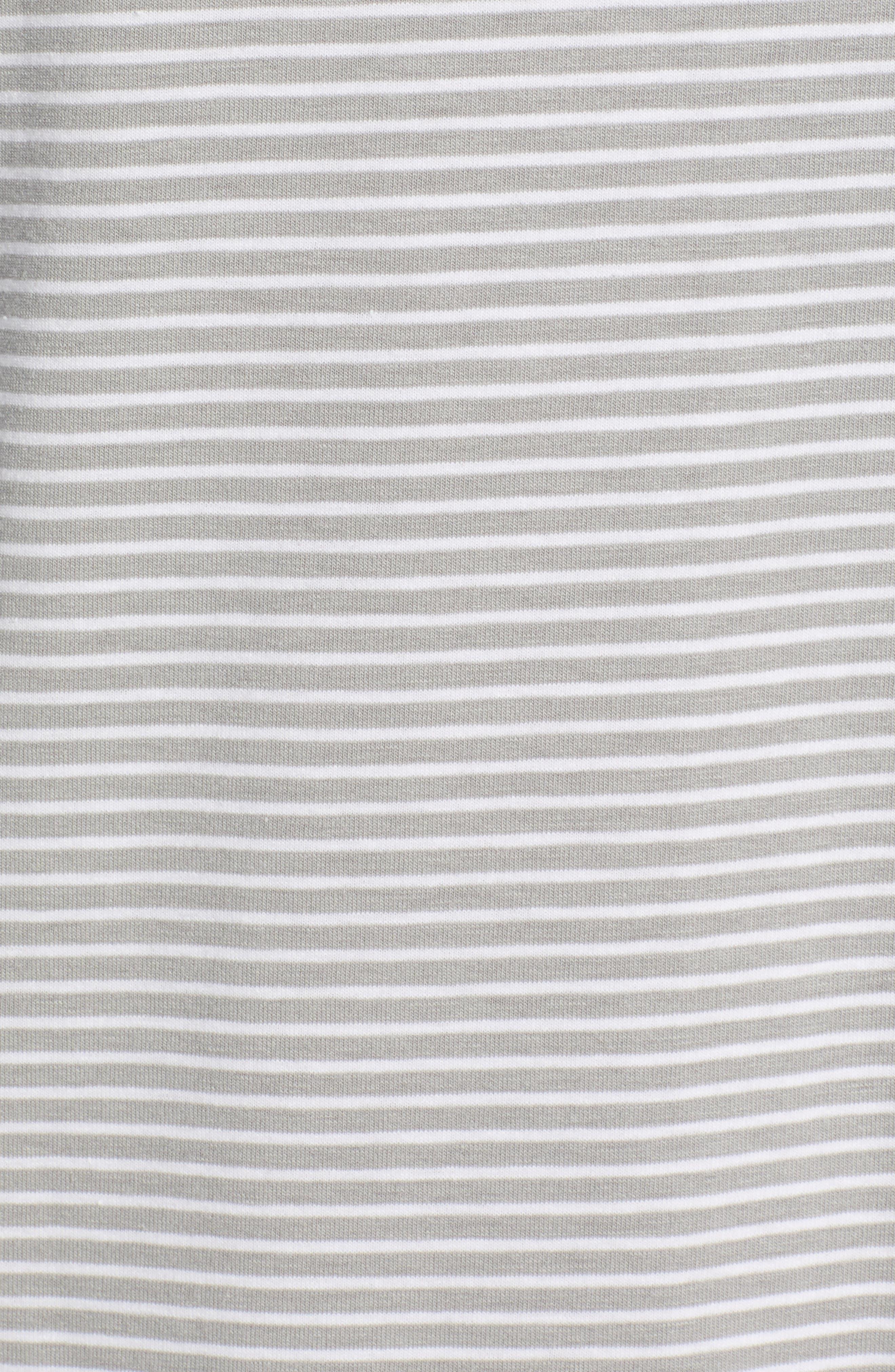 Shep Stripe Edgartown Polo Shirt,                             Alternate thumbnail 5, color,                             MONUMENT GREY
