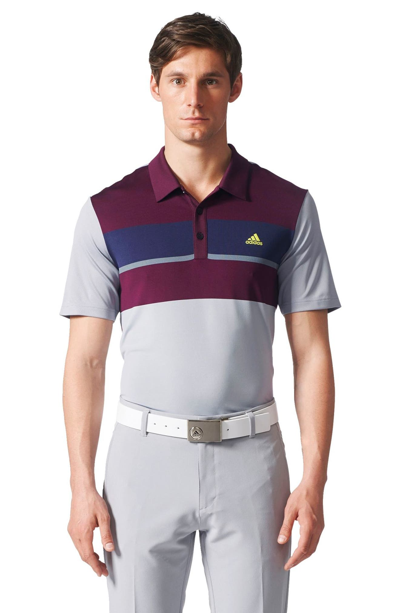 Climacool<sup>®</sup> Colorblocked Polo,                             Alternate thumbnail 6, color,